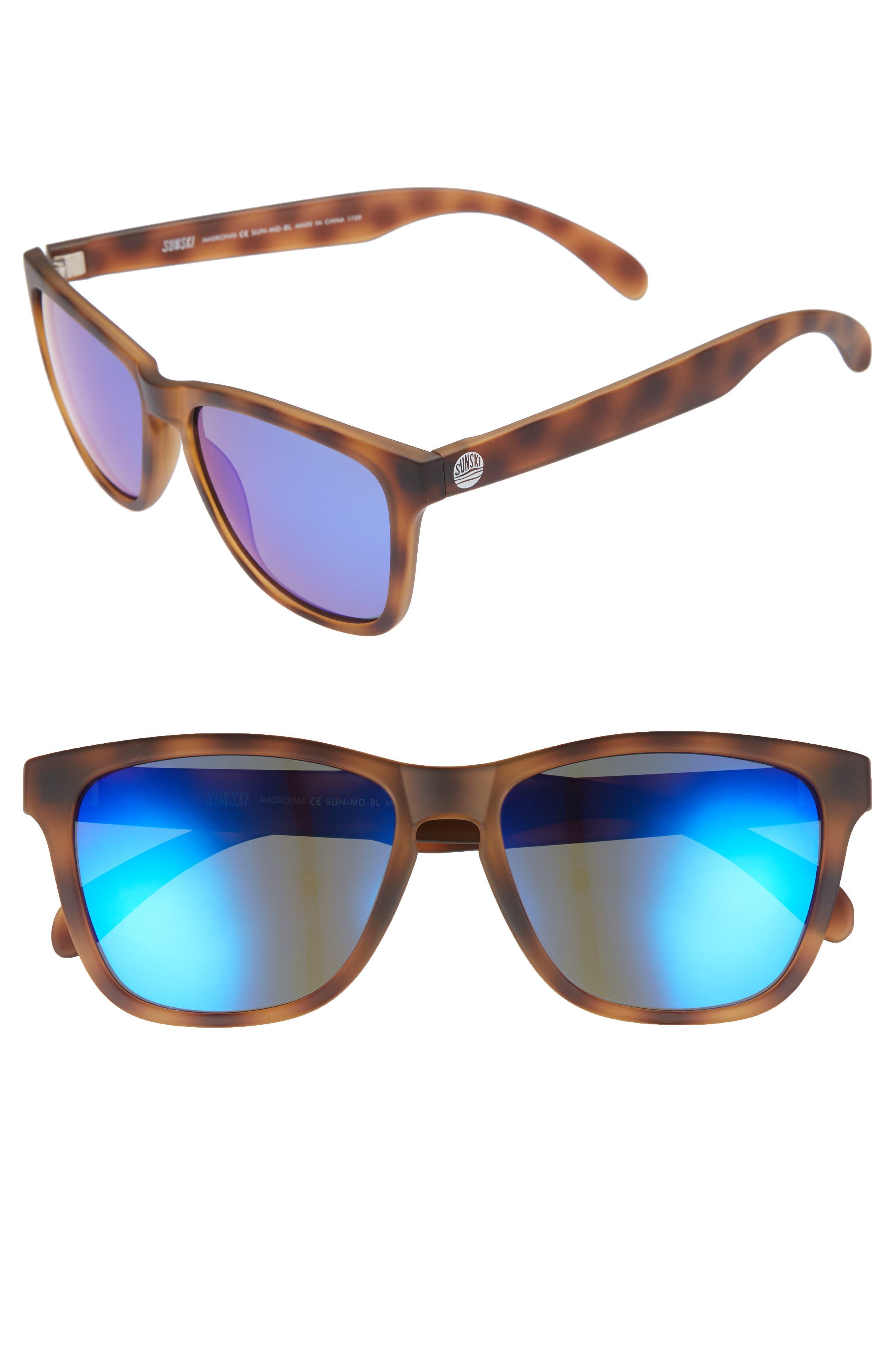 Madrona 53mm Polarized Sunglasses,                             Alternate thumbnail 2, color,                             TORTOISE/BLUE