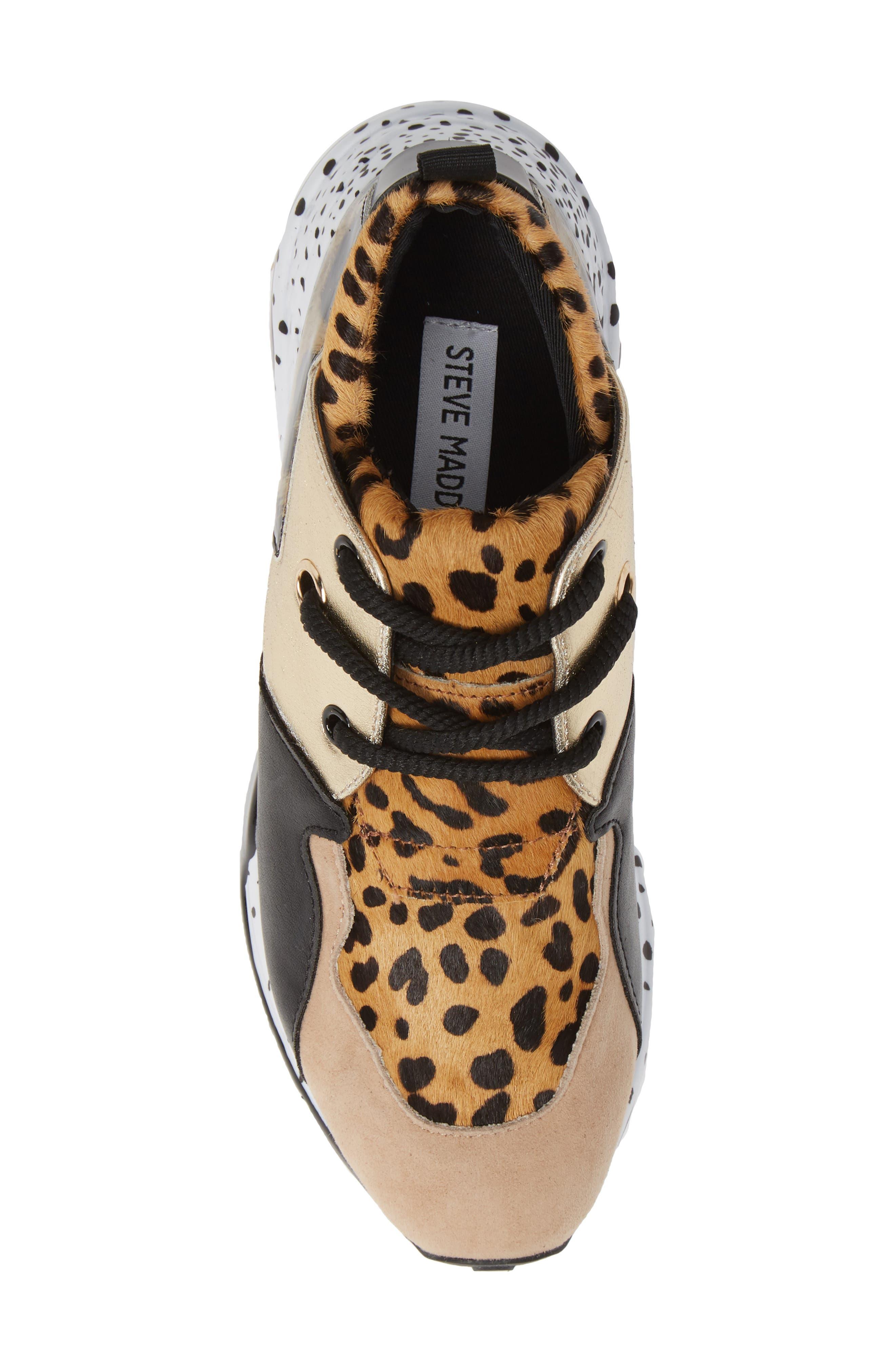 Cliff Genuine Calf Hair Sneaker,                             Alternate thumbnail 5, color,                             ANIMAL PRINT CALF HAIR