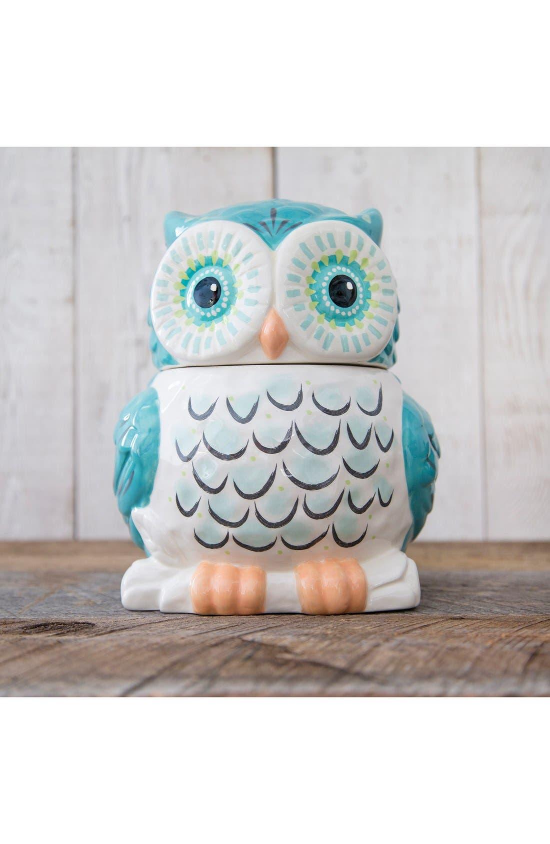 NATURAL LIFE,                             Ceramic Owl Cookie Jar,                             Alternate thumbnail 2, color,                             900