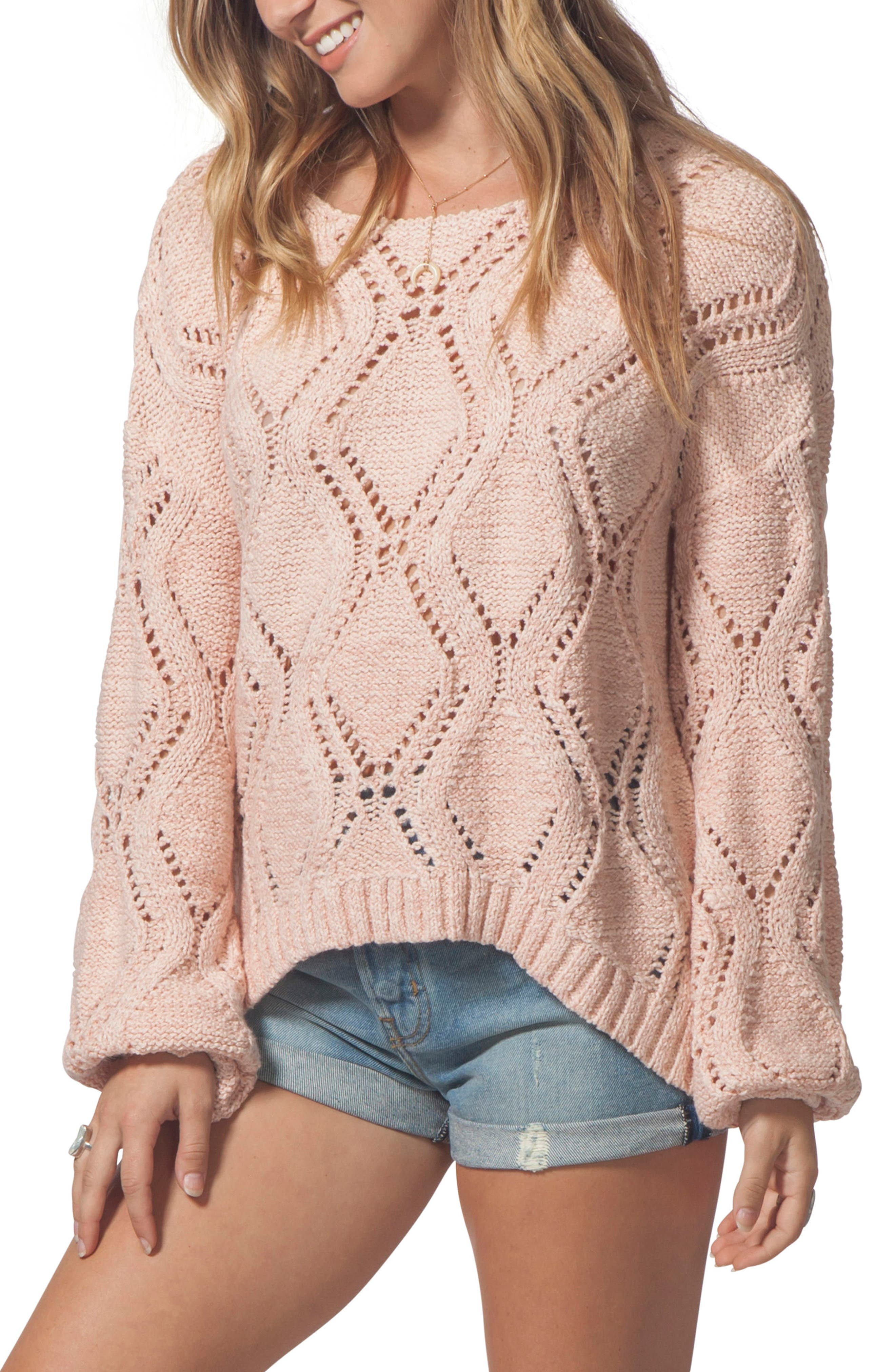 Love Spell Sweater,                             Main thumbnail 1, color,                             CORAL