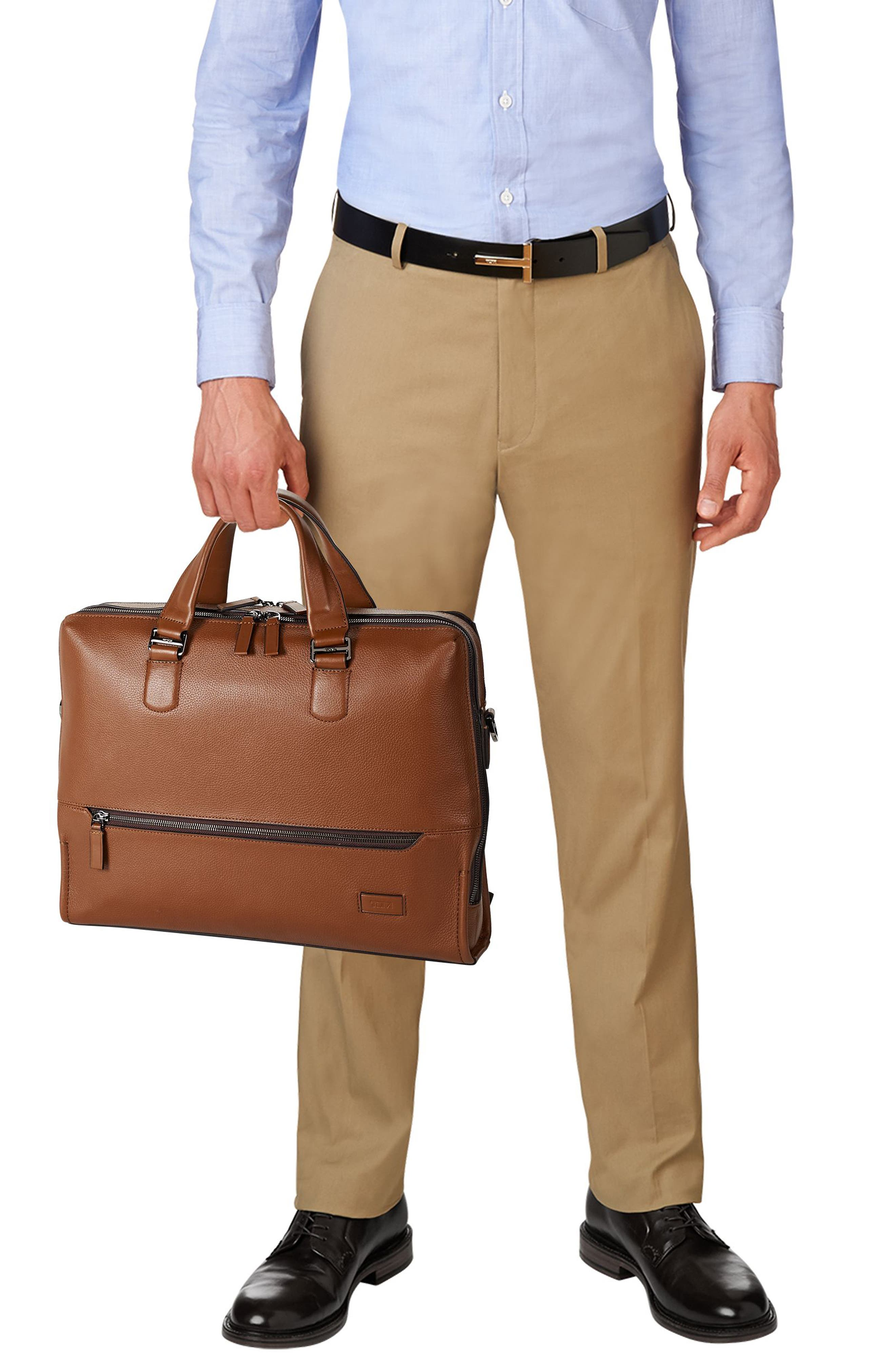 Harrison - Horton Briefcase,                             Alternate thumbnail 6, color,                             UMBER PEBBLED