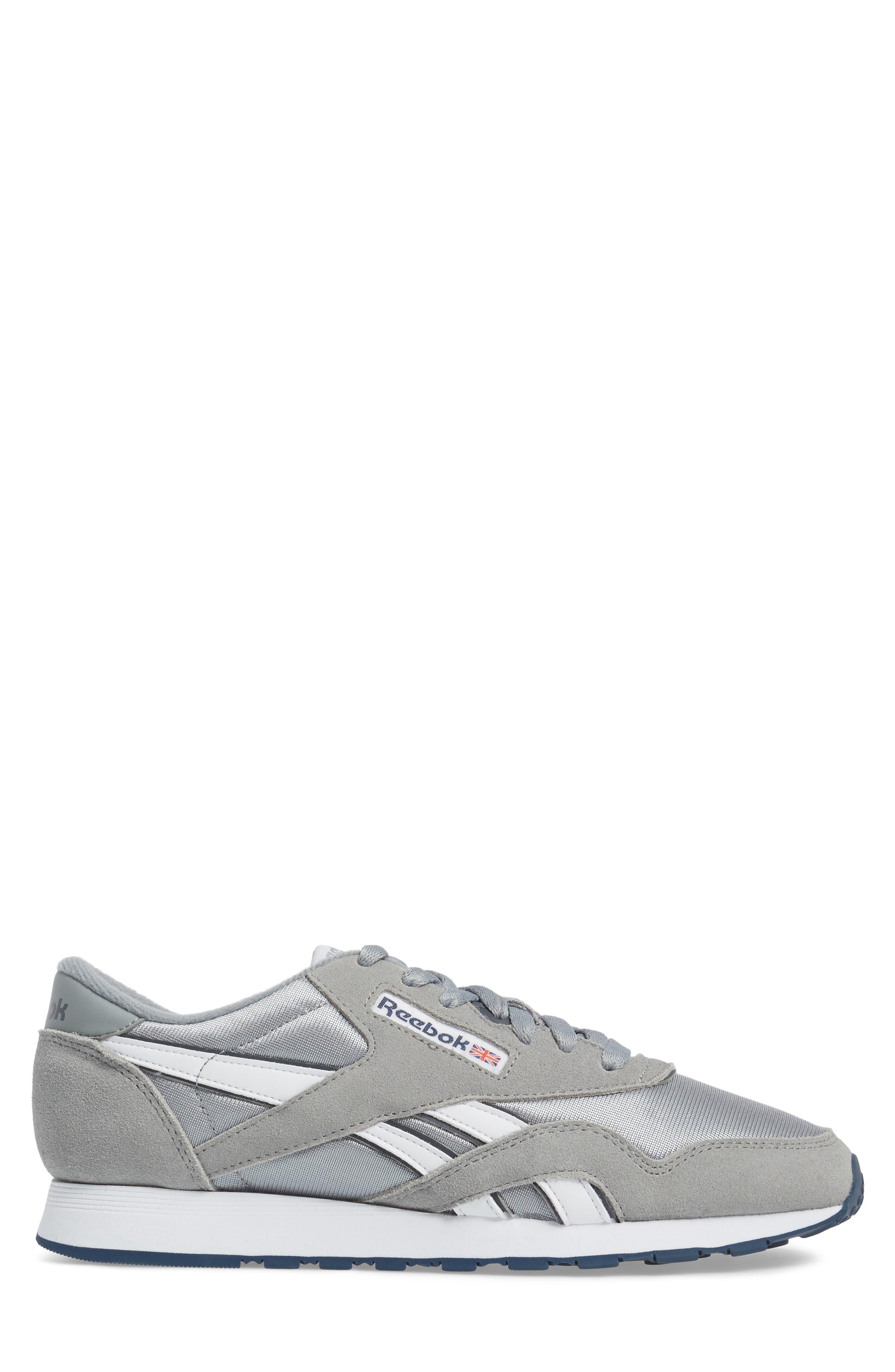 Classic Nylon Sneaker,                             Alternate thumbnail 3, color,                             PLATINUM/ JET BLUE