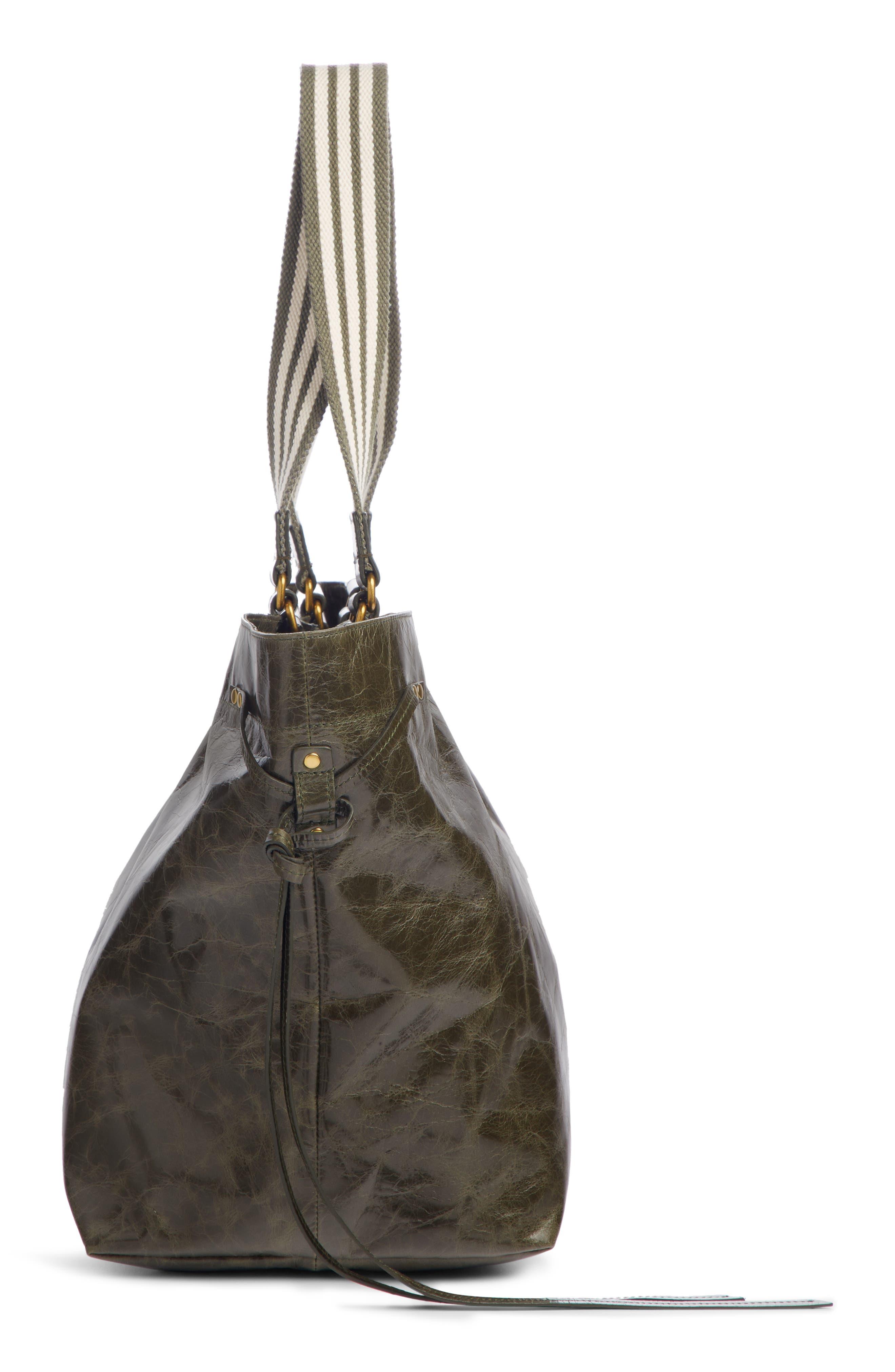 ISABEL MARANT,                             Wardy New Leather Shopper,                             Alternate thumbnail 4, color,                             KHAKI