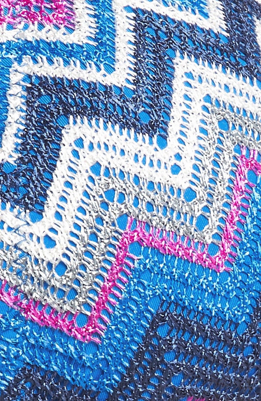 BECCA,                             'Get Connected' Crochet Triangle Bikini Top,                             Alternate thumbnail 5, color,                             469