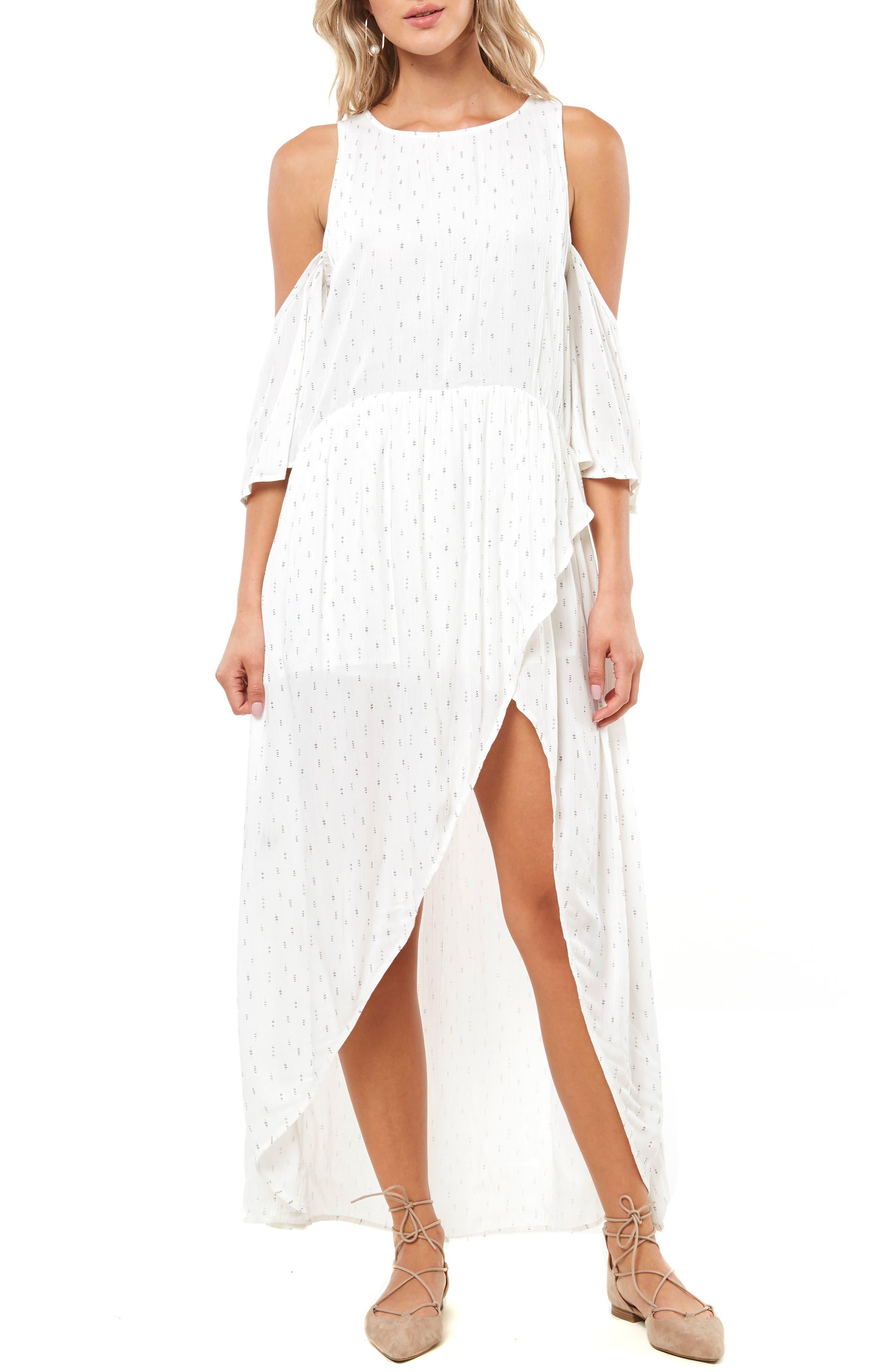 Blake Cold Shoulder Maxi Dress,                             Main thumbnail 1, color,                             NAKED