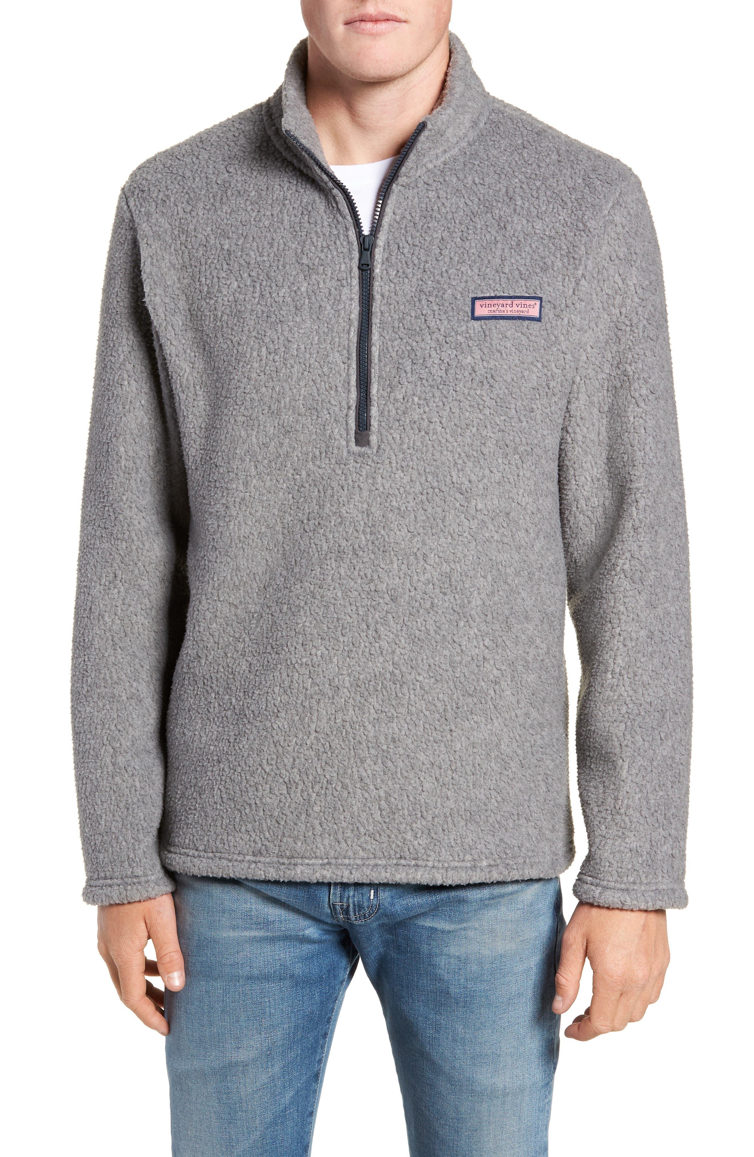 Fleece Quarter Zip Pullover,                             Main thumbnail 1, color,                             020