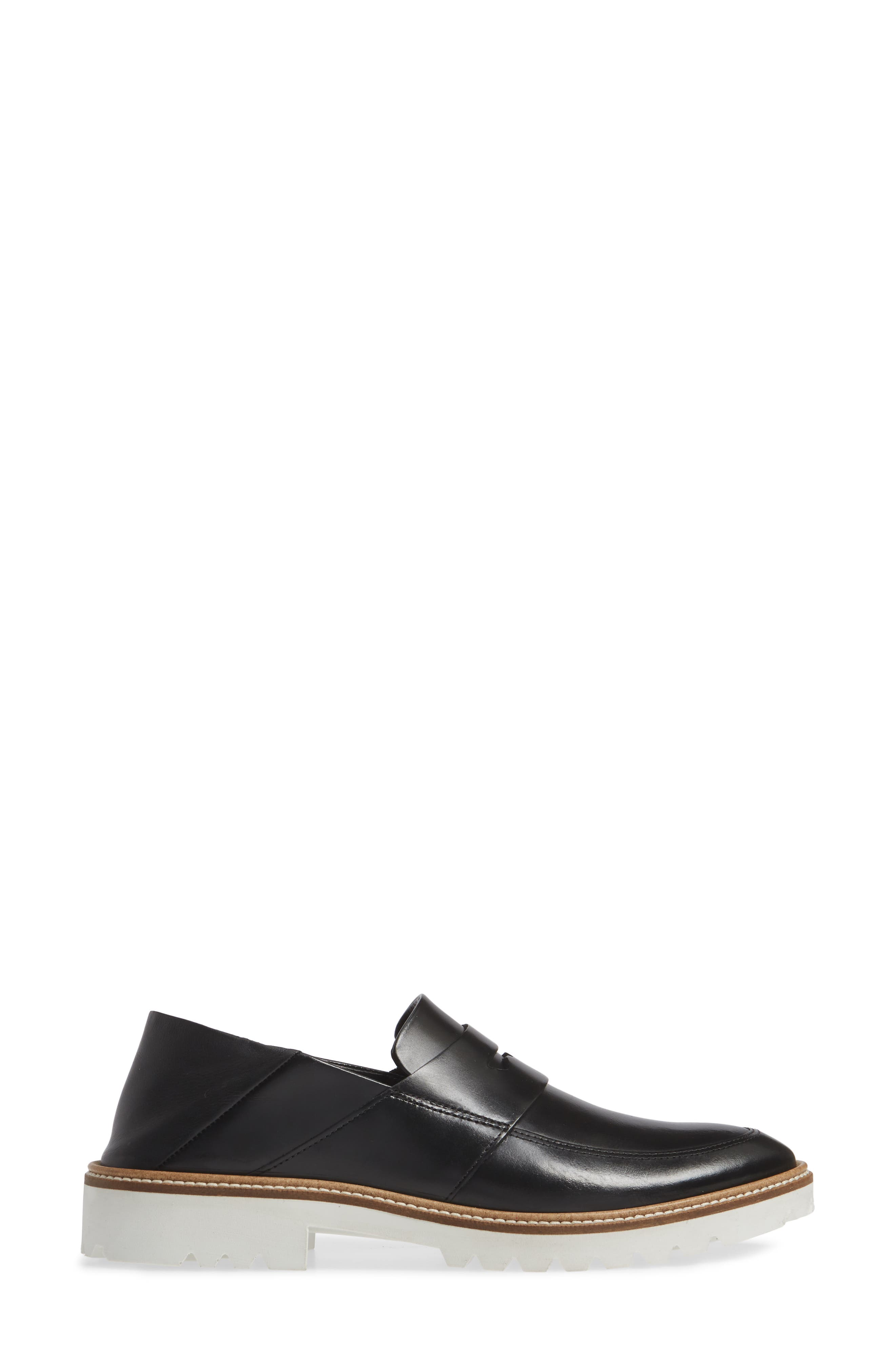 Incise Tailored Convertible Loafer,                             Alternate thumbnail 2, color,                             BLACK LEATHER