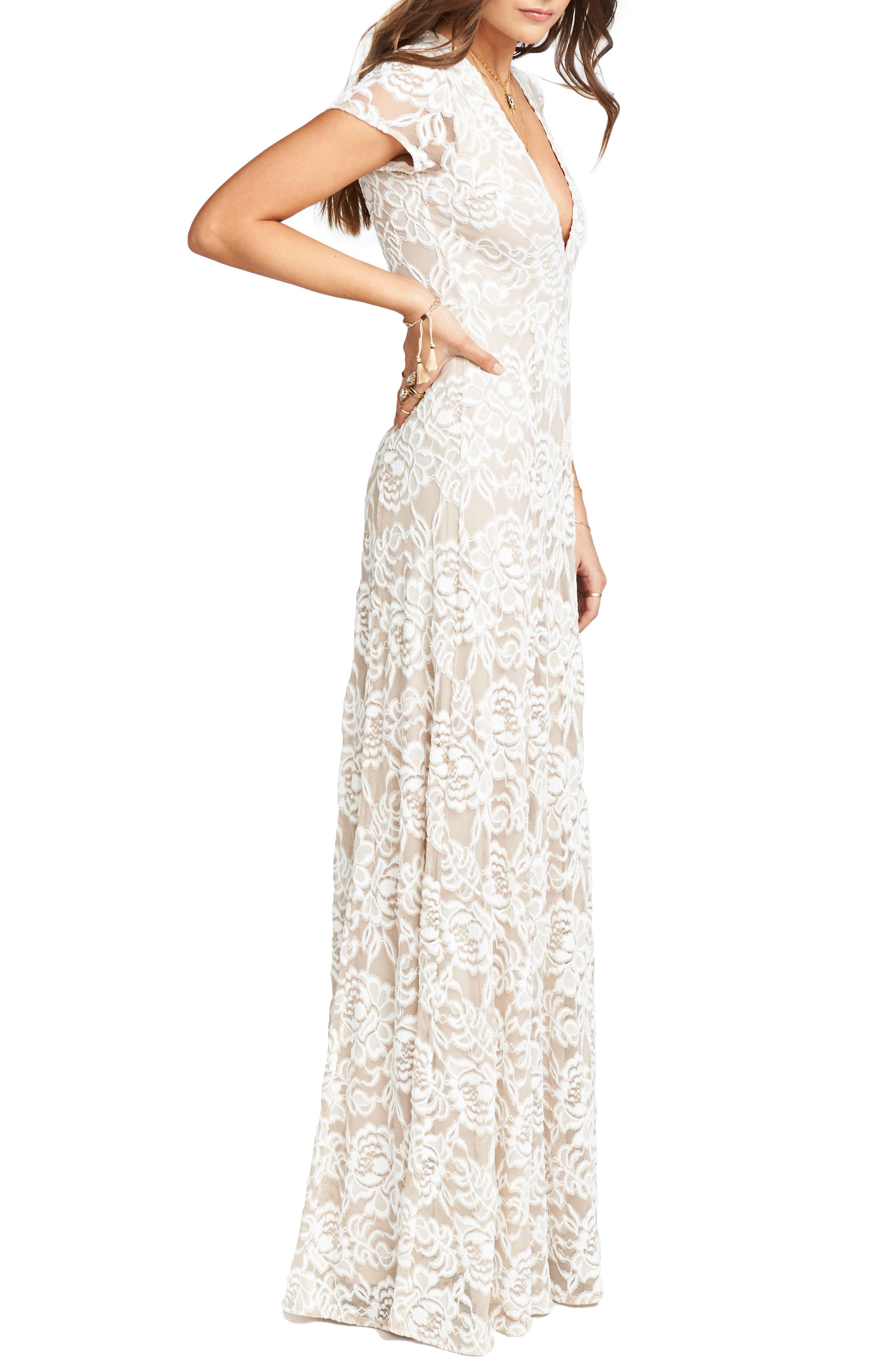 Eleanor Lace Gown,                             Alternate thumbnail 4, color,