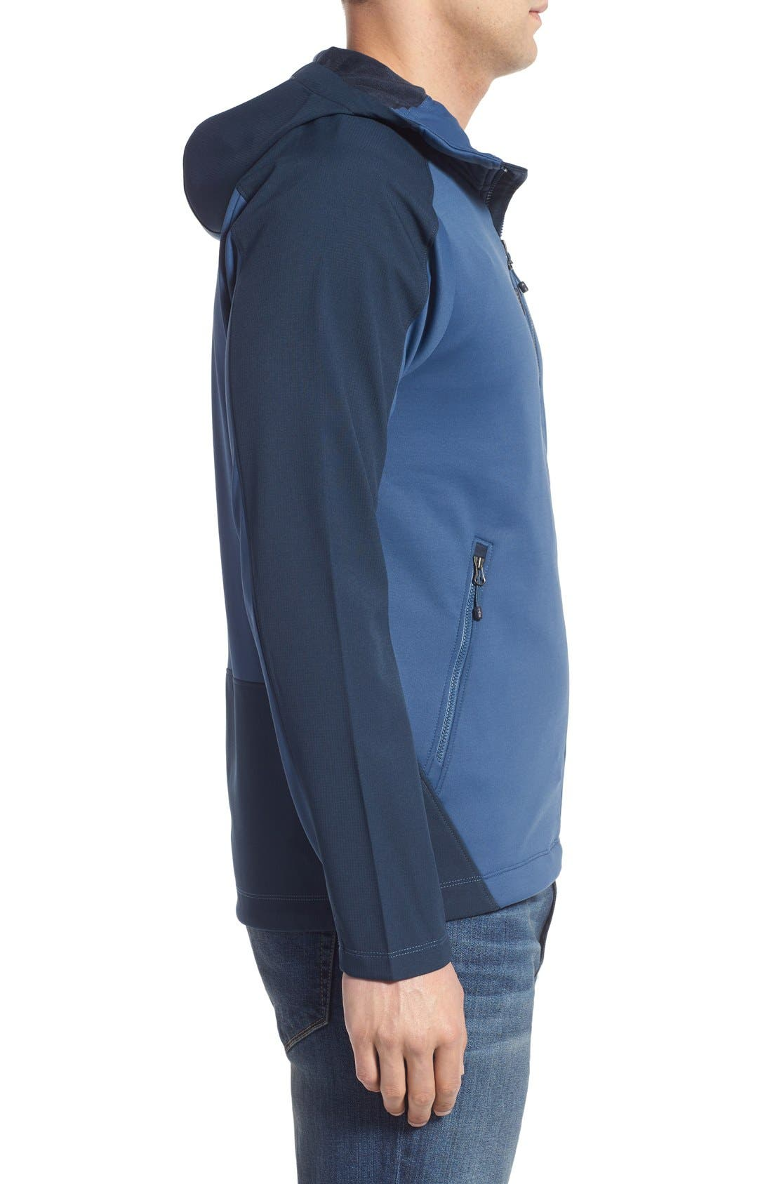 Tenacious Active Fit Hooded Jacket,                             Alternate thumbnail 15, color,