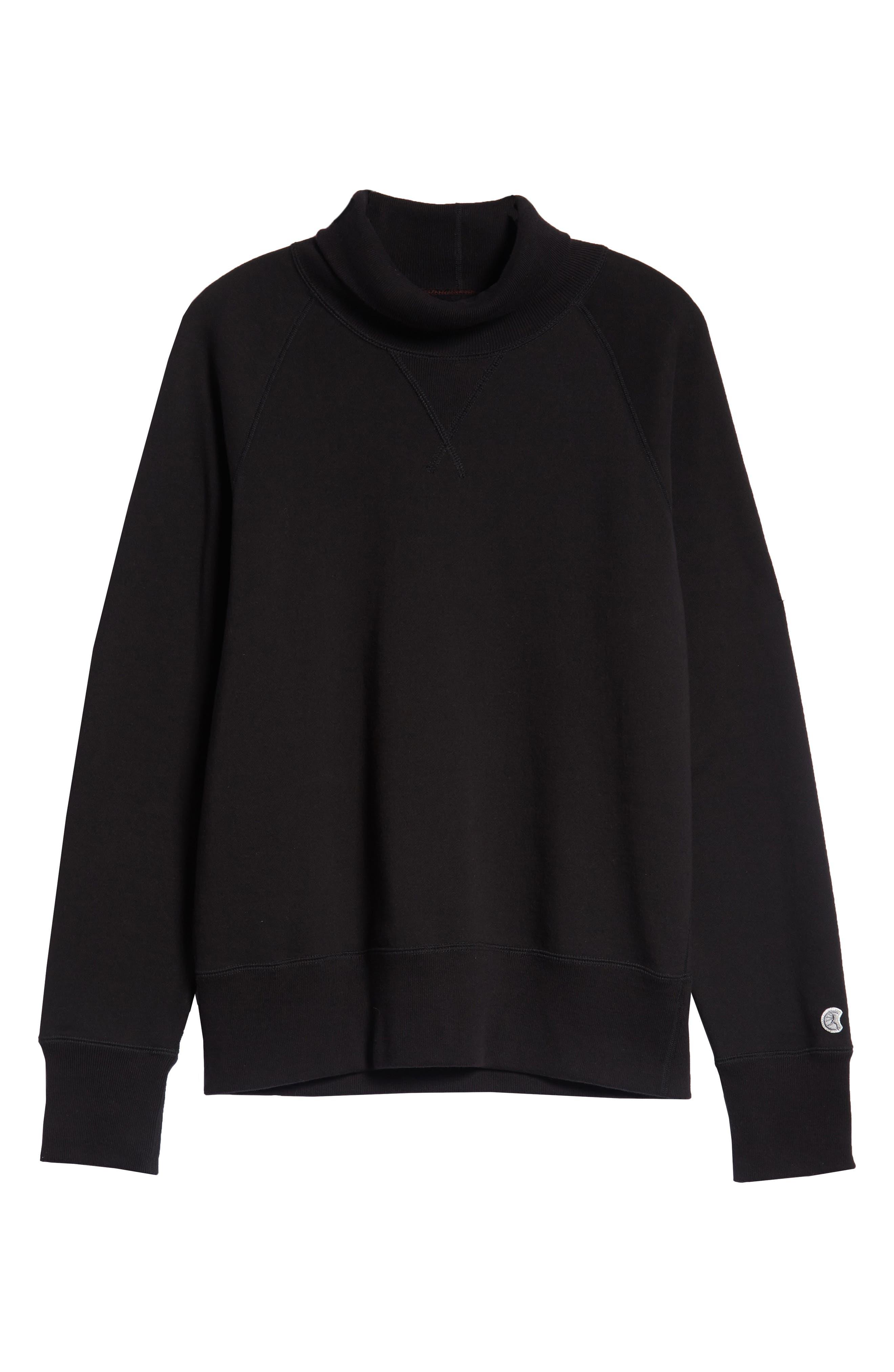 + Champion Turtleneck Sweatshirt,                             Alternate thumbnail 6, color,                             001