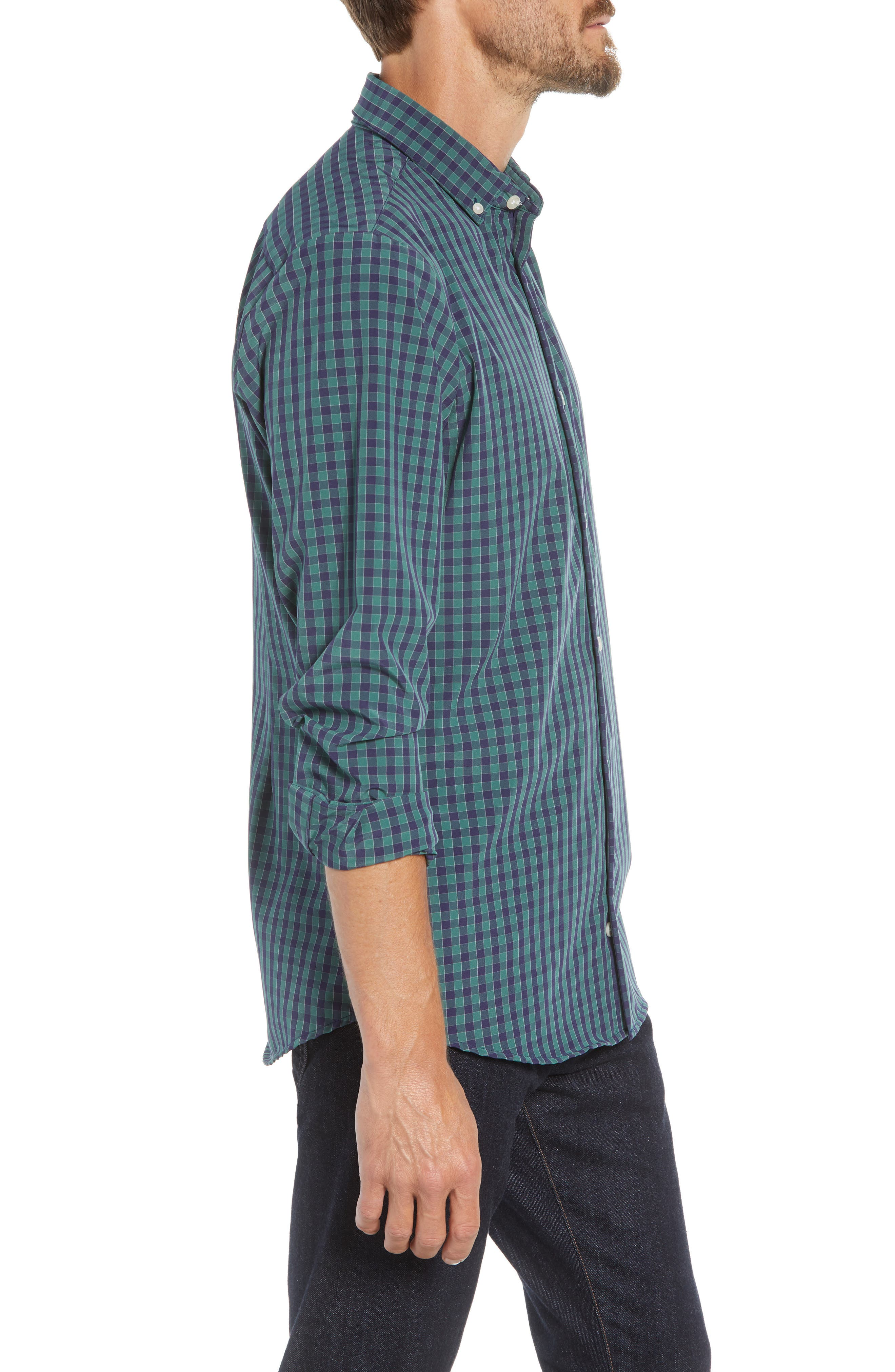 Thomson Slim Fit Sport Shirt,                             Alternate thumbnail 4, color,                             GREEN