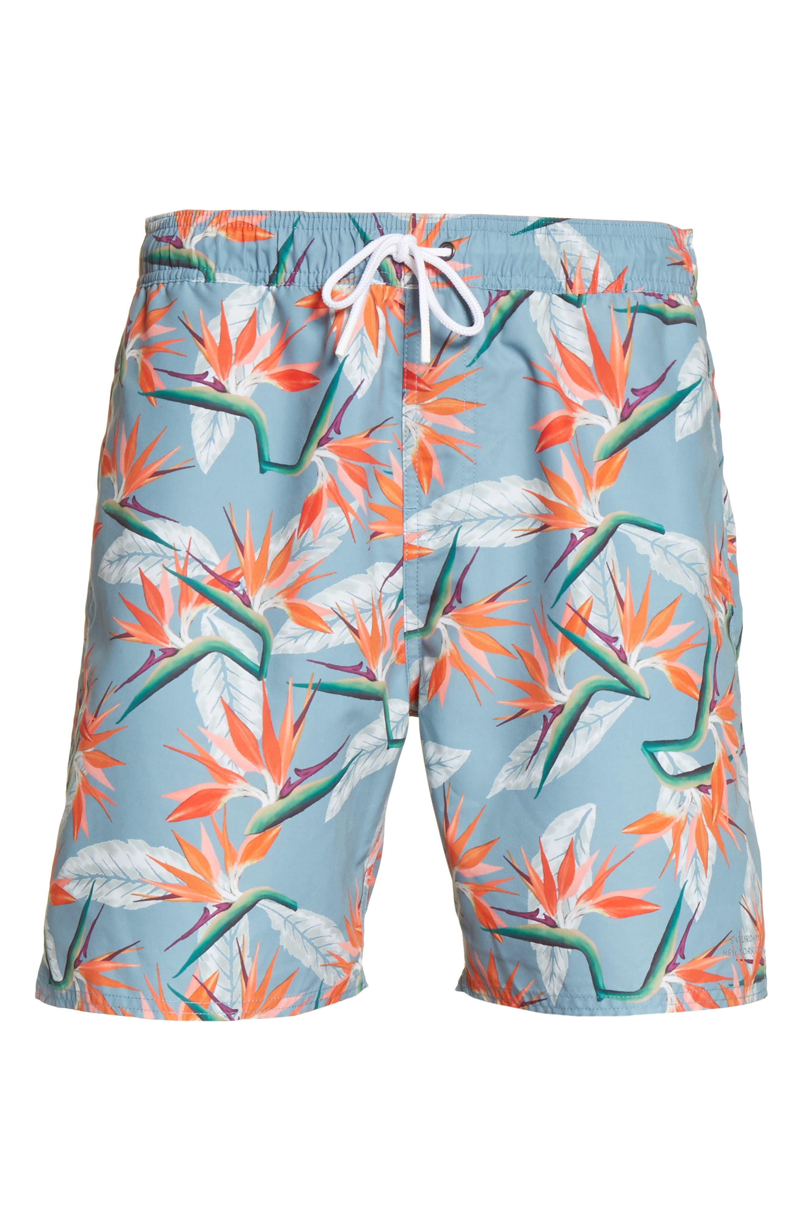 Timothy Paradise Swim Shorts,                             Alternate thumbnail 6, color,                             PARADISE PRINT