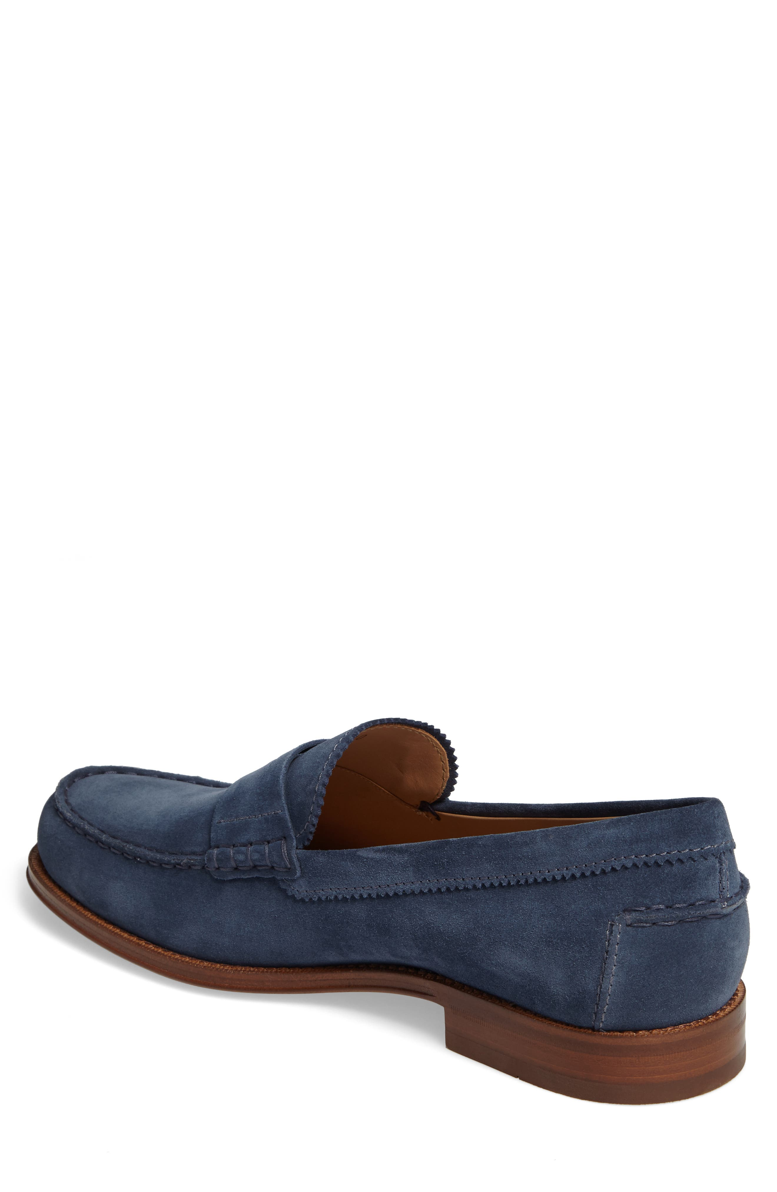 Suede Penny Loafer,                             Alternate thumbnail 4, color,