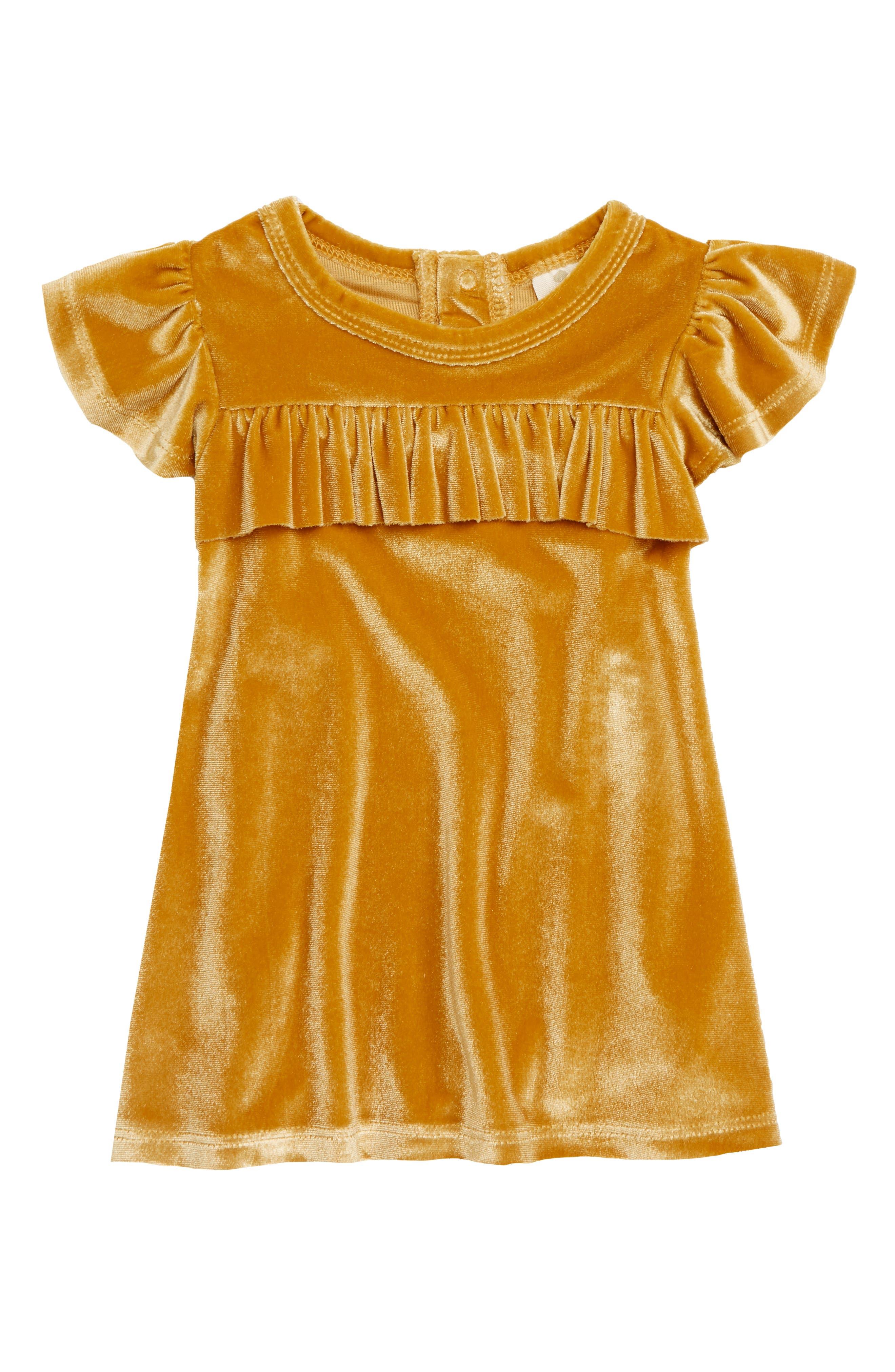TUCKER + TATE Velvet Ruffle Dress, Main, color, 701