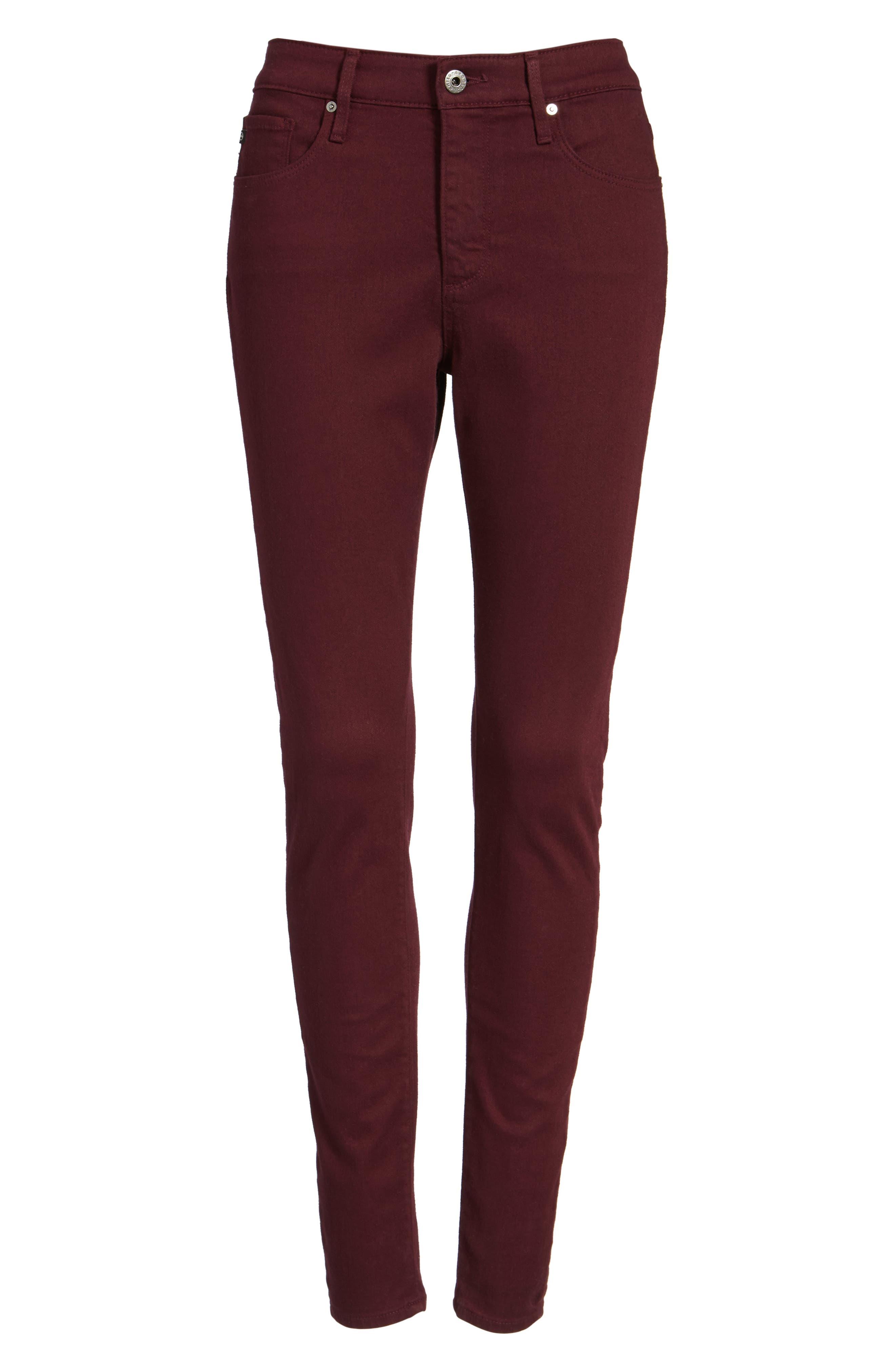 AG,                             Farrah High Waist Skinny Jeans,                             Alternate thumbnail 6, color,                             609