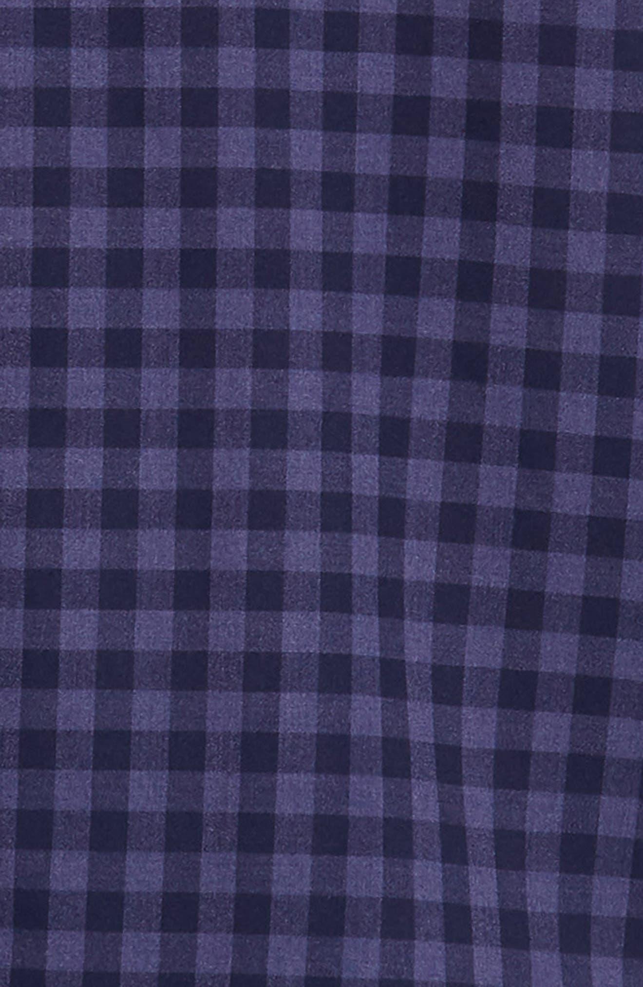 Palmetto Regular Fit Flannel Sport Shirt,                             Alternate thumbnail 6, color,                             NAVY