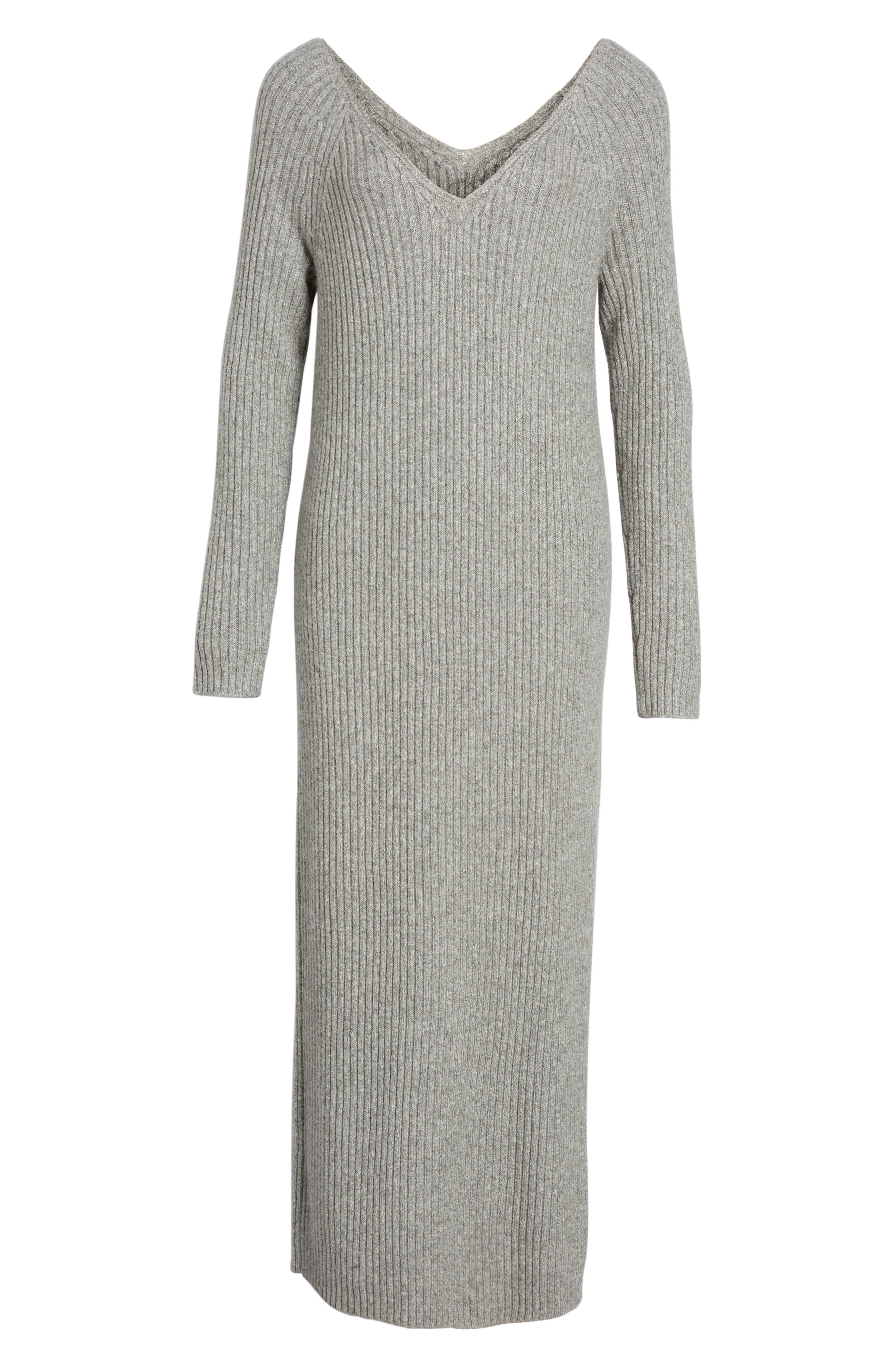 Ribbed Maxi Sweater Dress,                             Alternate thumbnail 6, color,