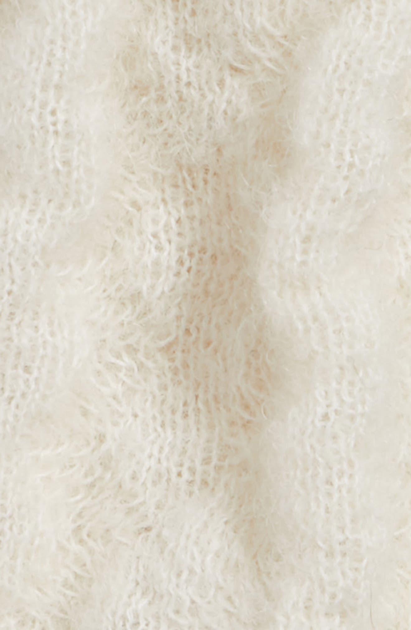 Alpaca Knit Hat,                             Alternate thumbnail 2, color,                             IVORY
