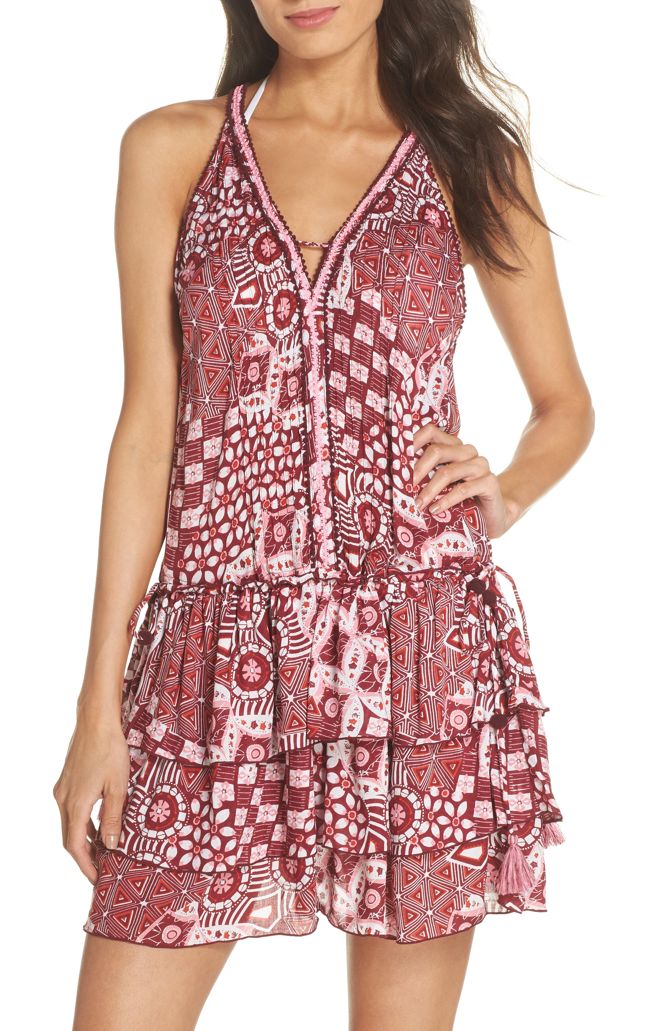 Poupette St. Barth Bety Cover-Up Minidress,                             Main thumbnail 1, color,                             650