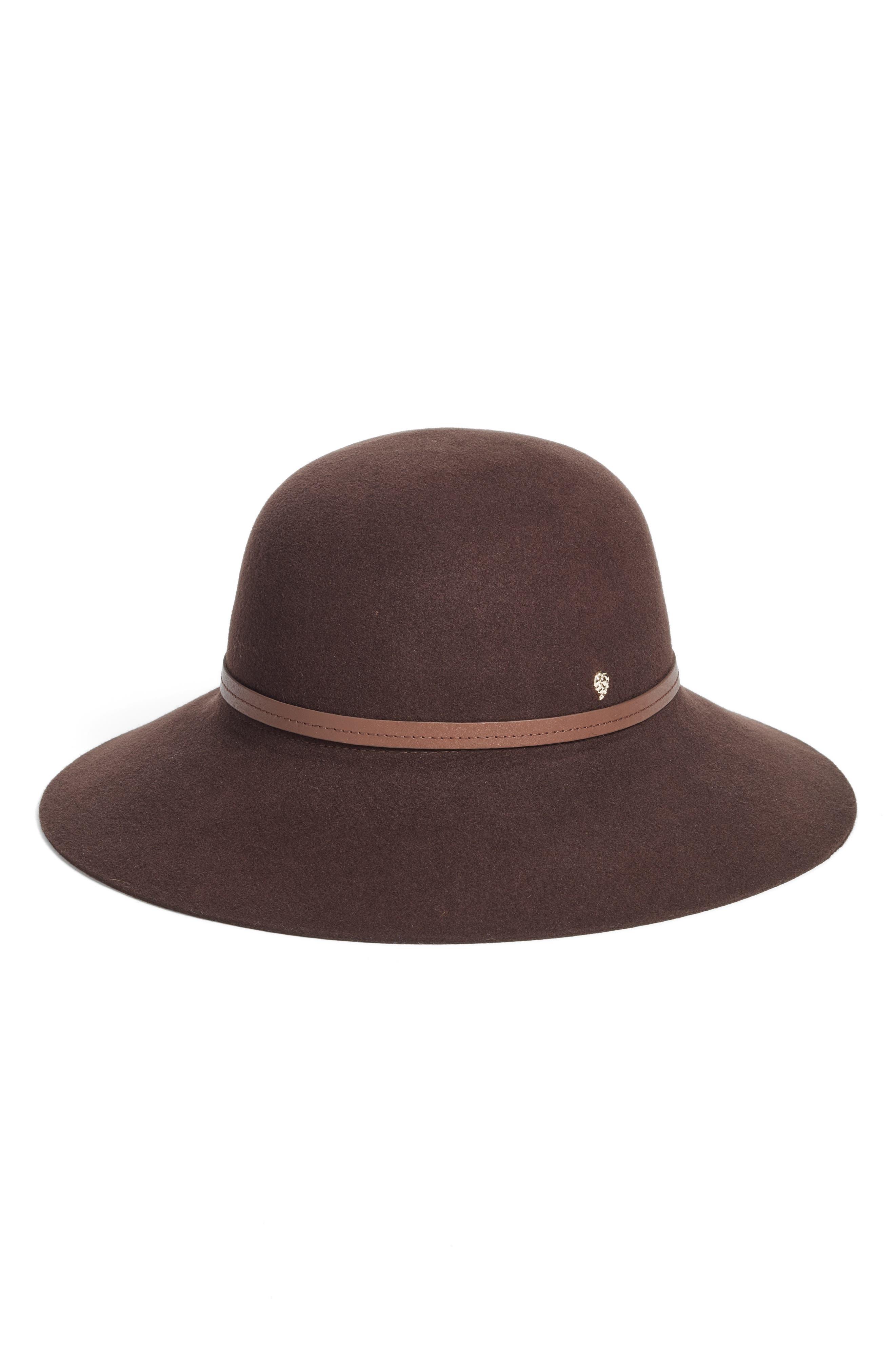 Angled Brim Wool Felt Hat,                         Main,                         color, 200