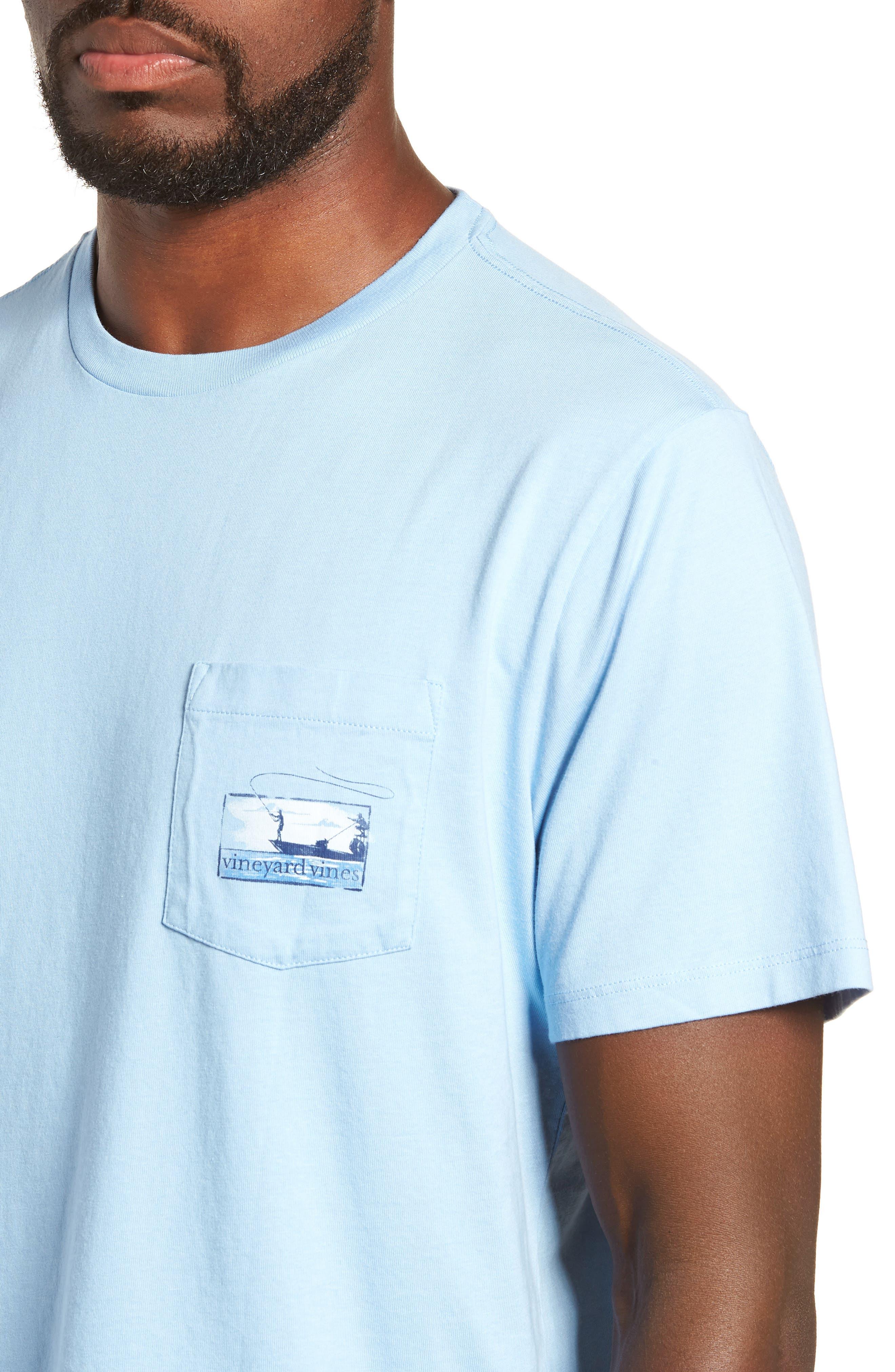 Flats Fishing Pocket T-Shirt,                             Alternate thumbnail 4, color,                             456
