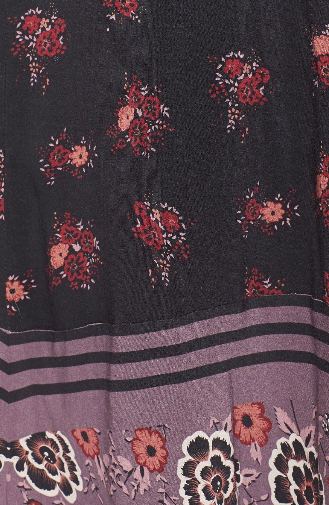 FREE PEOPLE,                             'Sunrise Oblivion' Floral Print Dress,                             Alternate thumbnail 3, color,                             001