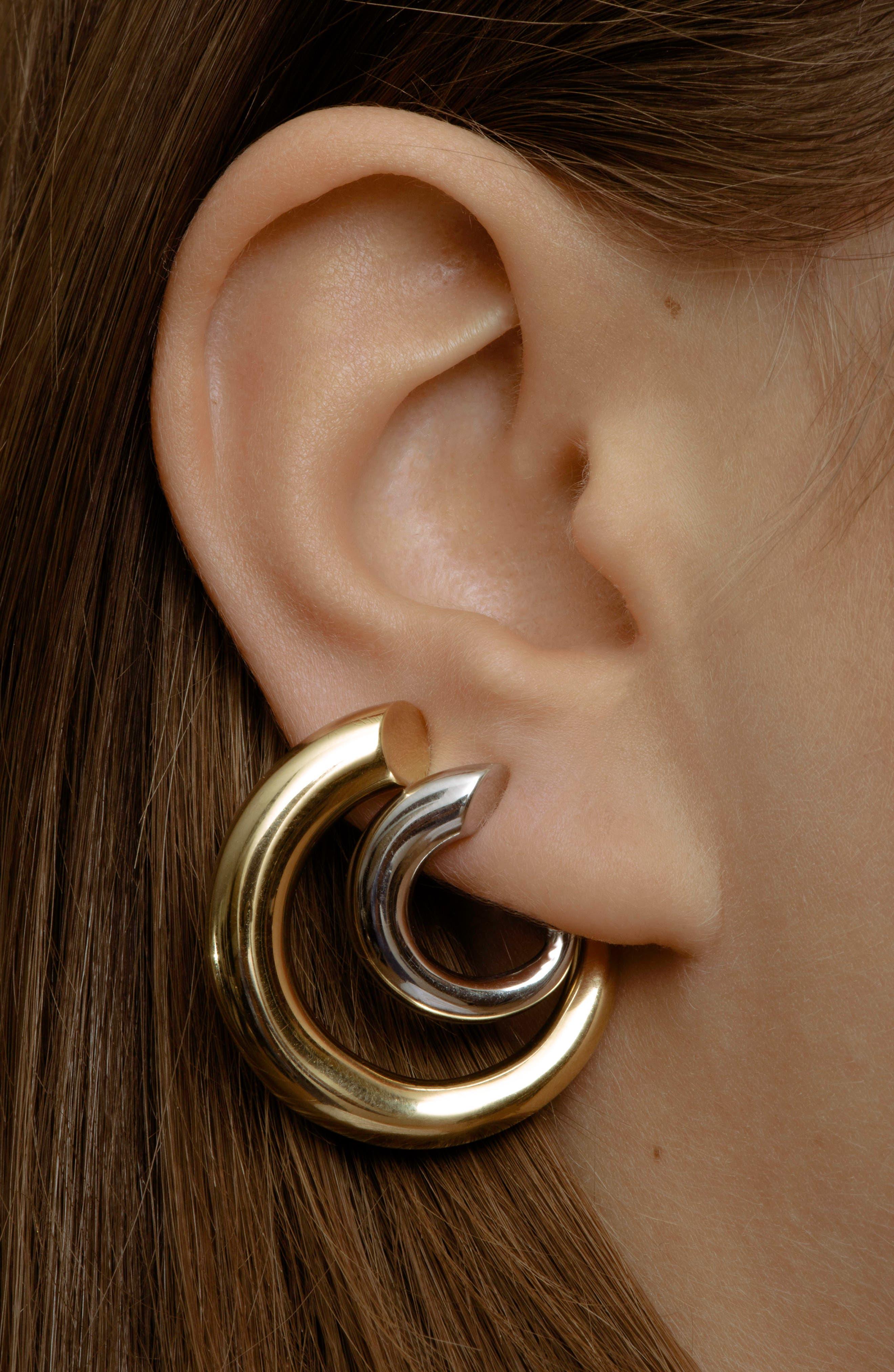 Monie Small Vermeil Hoop Earrings,                             Alternate thumbnail 2, color,                             710