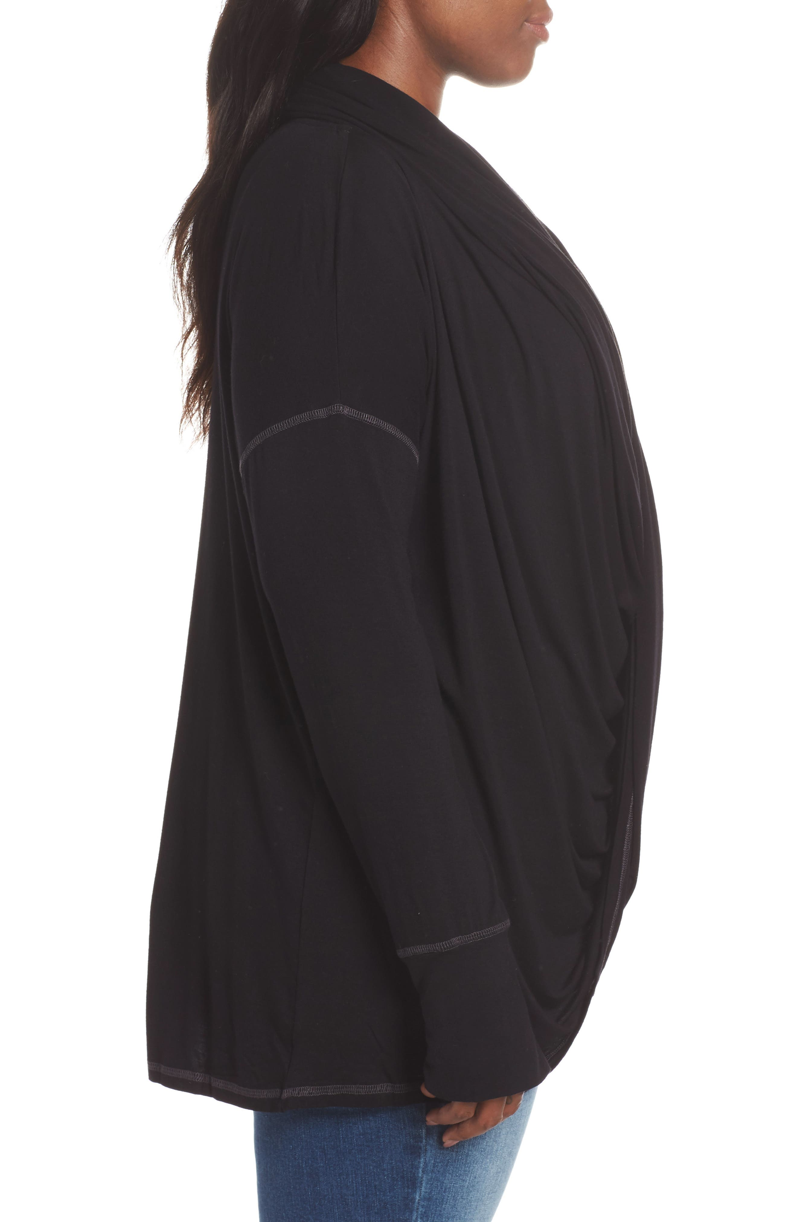 Off-Duty Long Convertible Cardigan,                             Alternate thumbnail 9, color,                             001