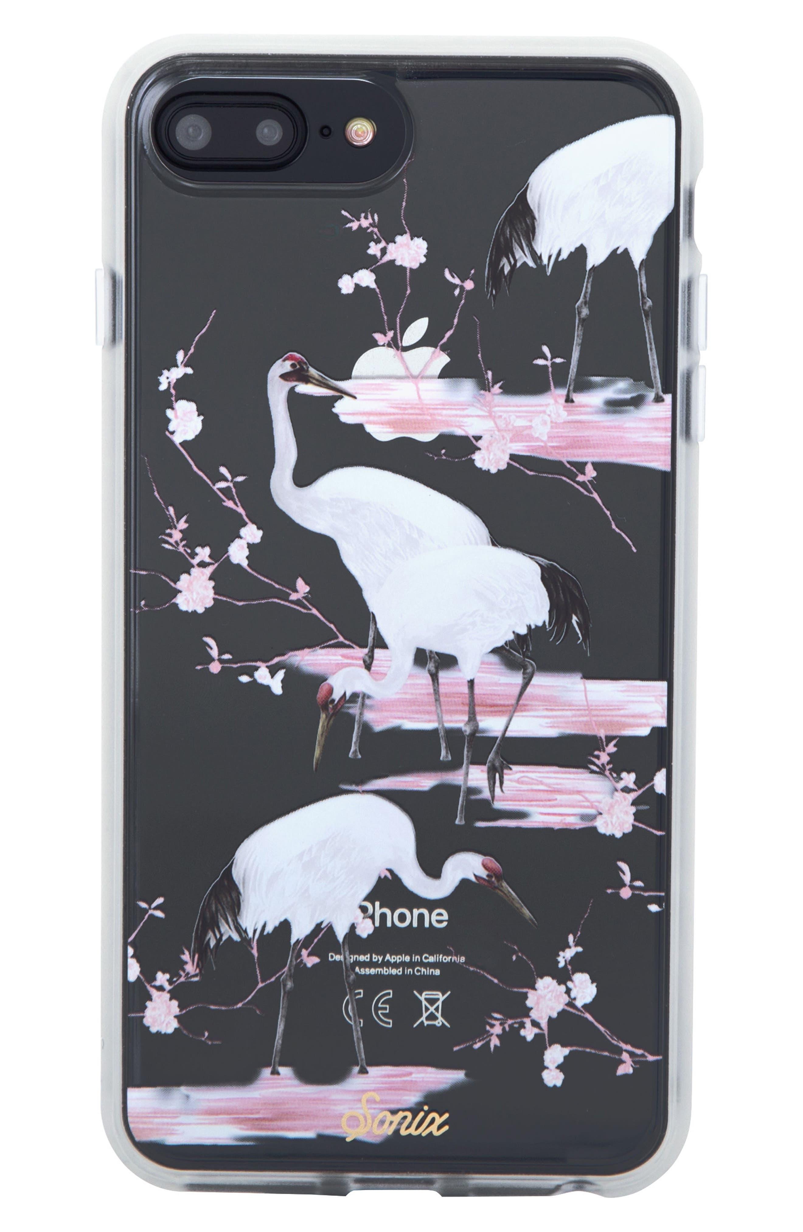 Crane iPhone 6/6s/7/8 Plus Case,                         Main,                         color, WHITE/ PINK