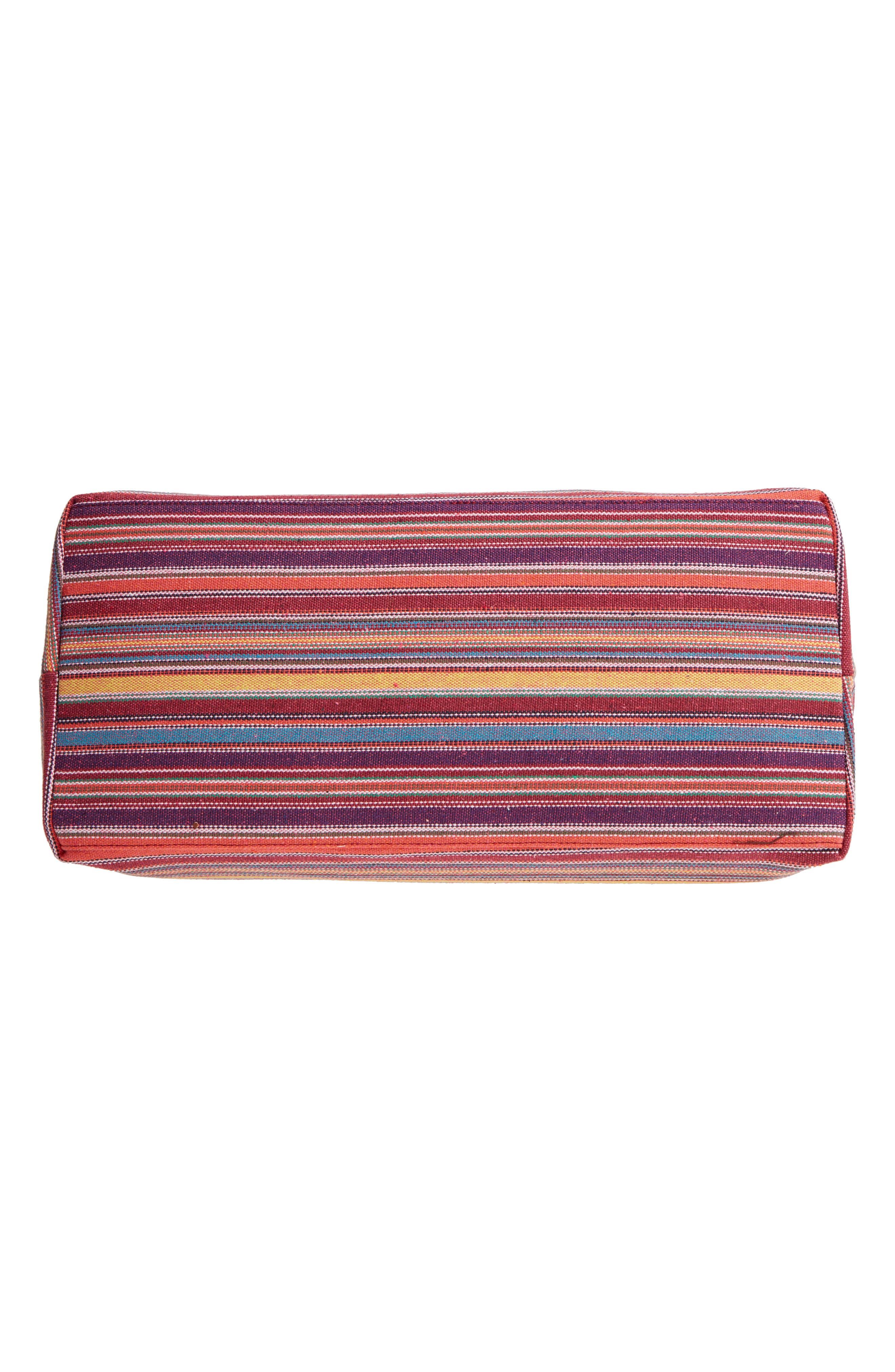 Stripe Woven Overnight Bag,                             Alternate thumbnail 6, color,                             500