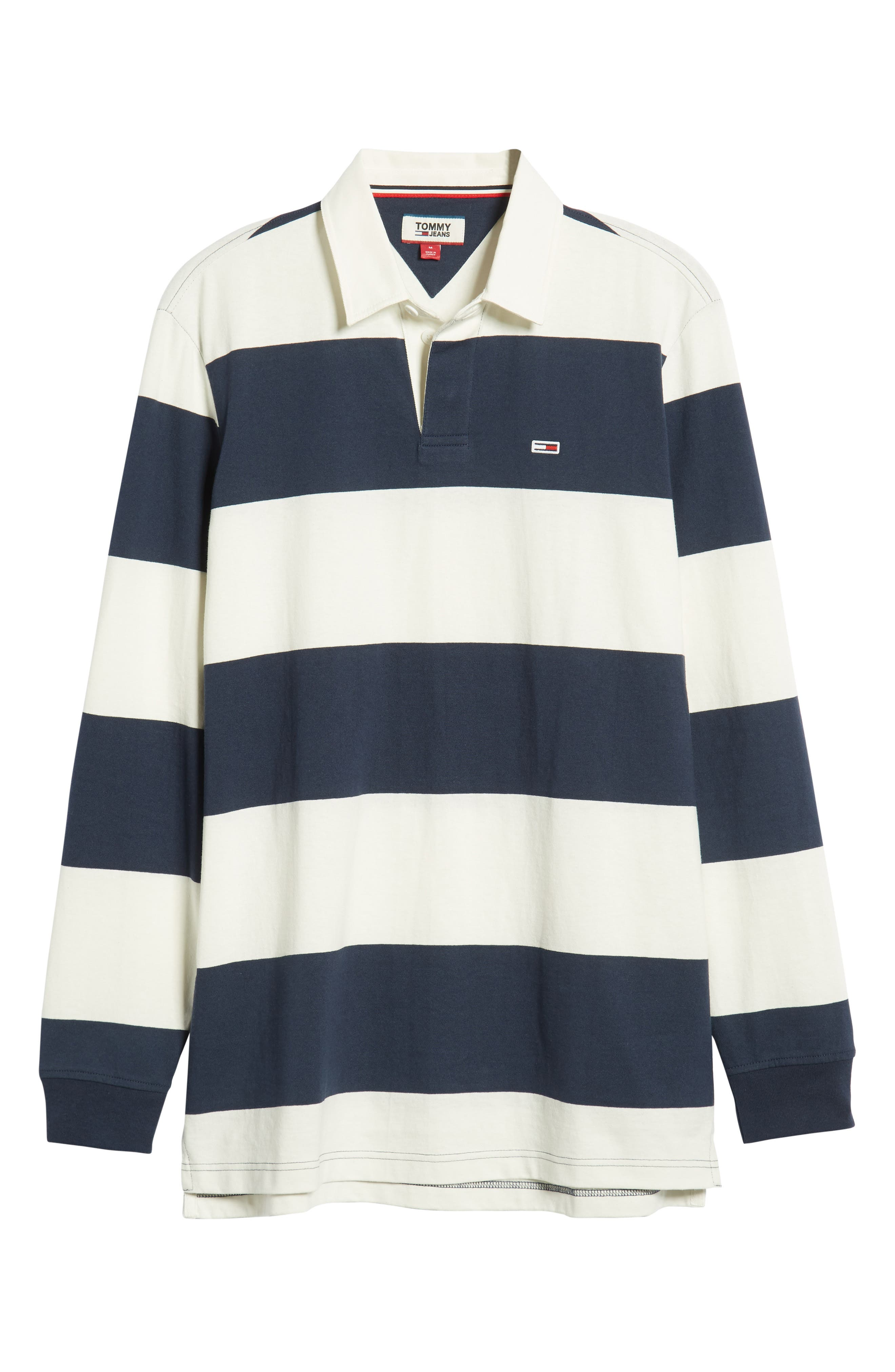 TJM Tommy Classics Rugby Shirt,                             Alternate thumbnail 6, color,                             CLASSIC WHITE / BLACK IRIS