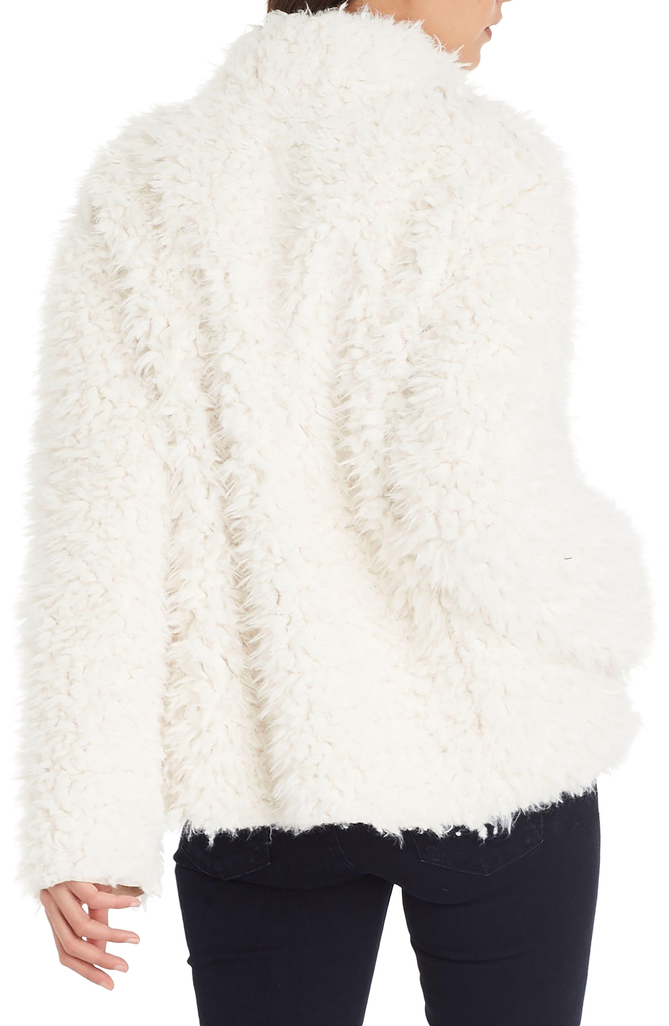 Reversible Faux Fur Coat,                             Alternate thumbnail 2, color,