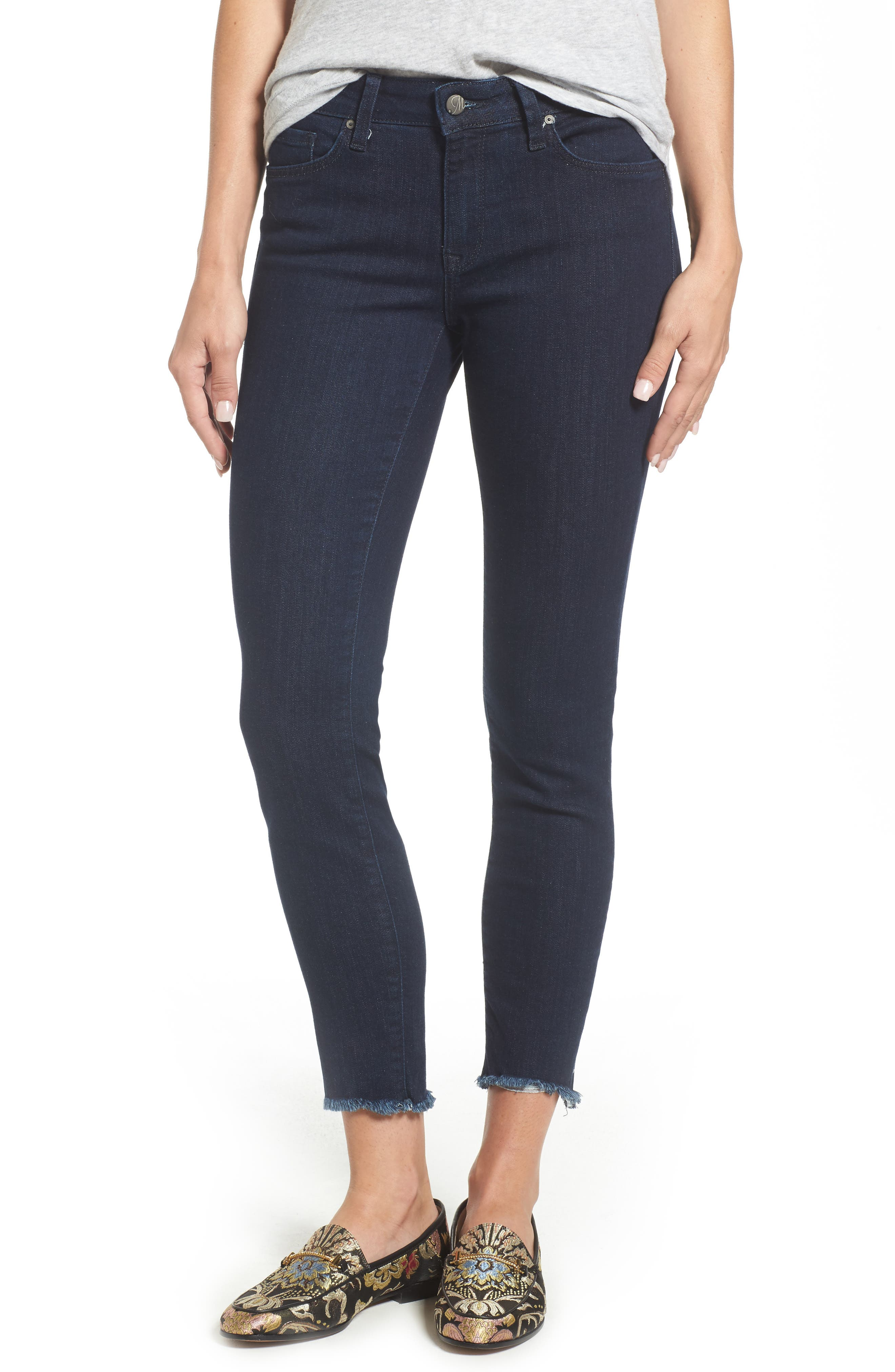 Adriana Ankle Skinny Jeans,                             Main thumbnail 1, color,                             RINSE TRIBECA