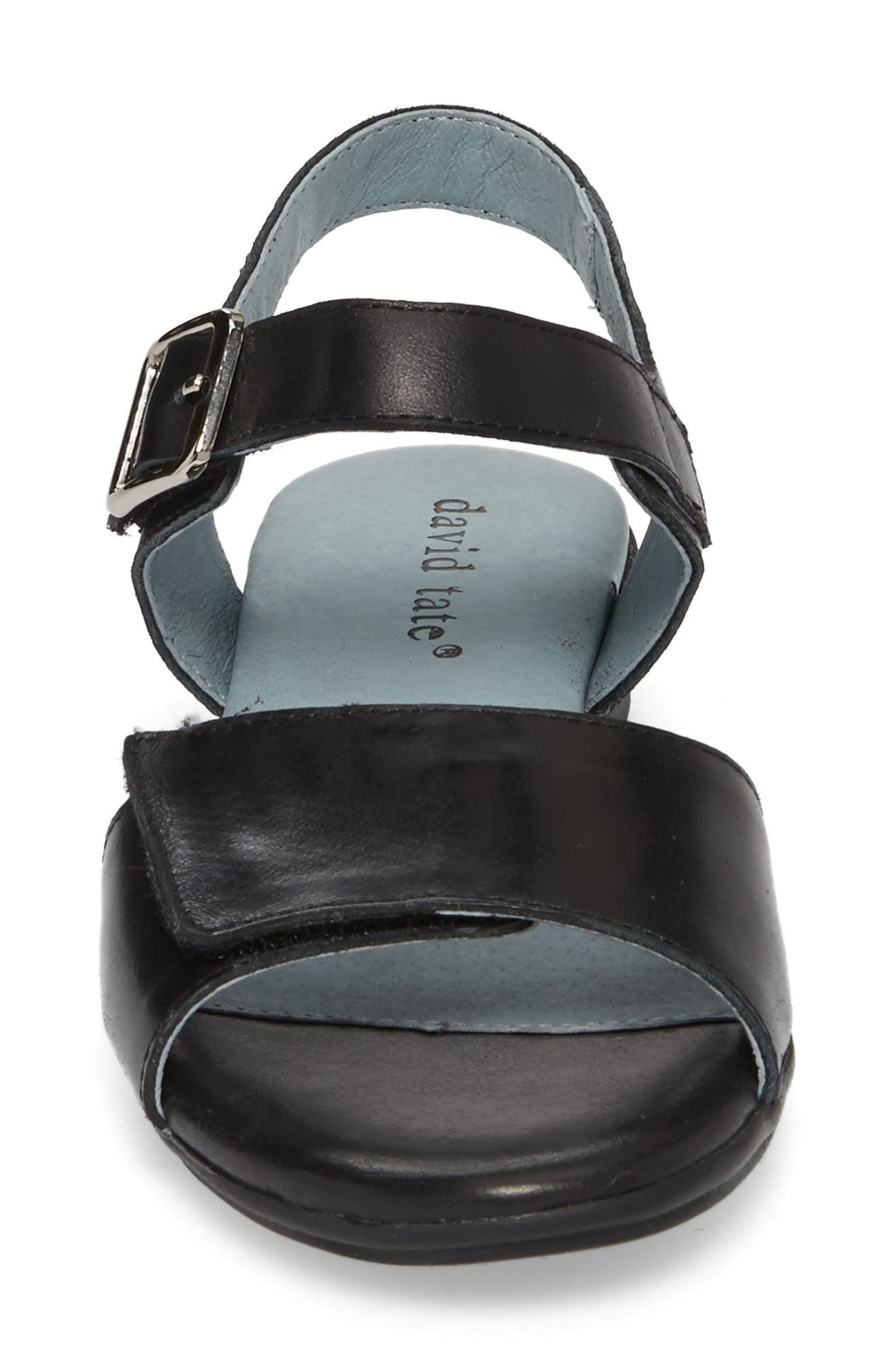 Light Sandal,                             Alternate thumbnail 4, color,                             BLACK LEATHER