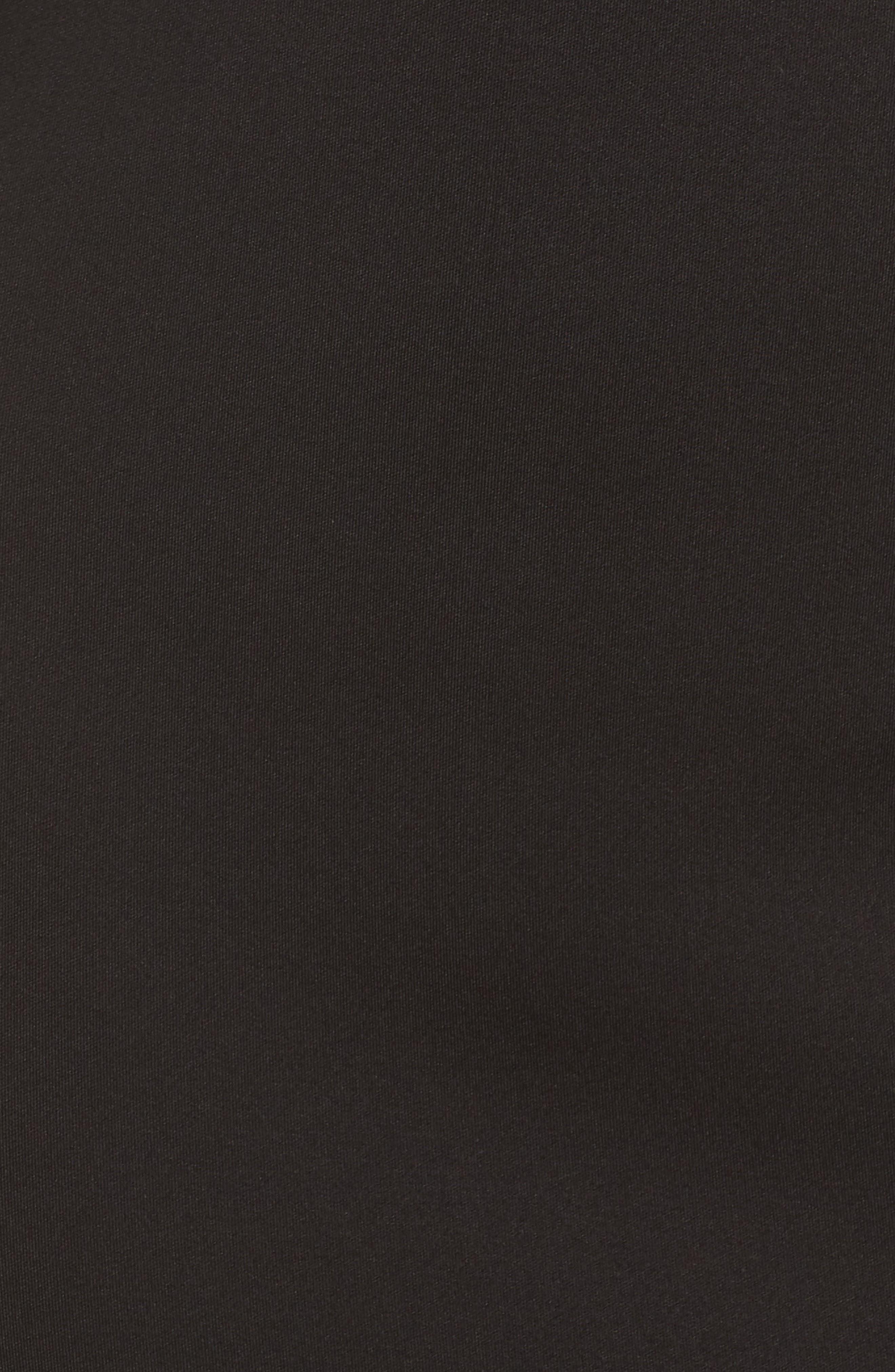 Cowl Neck Mermaid Gown,                             Alternate thumbnail 6, color,                             BLACK