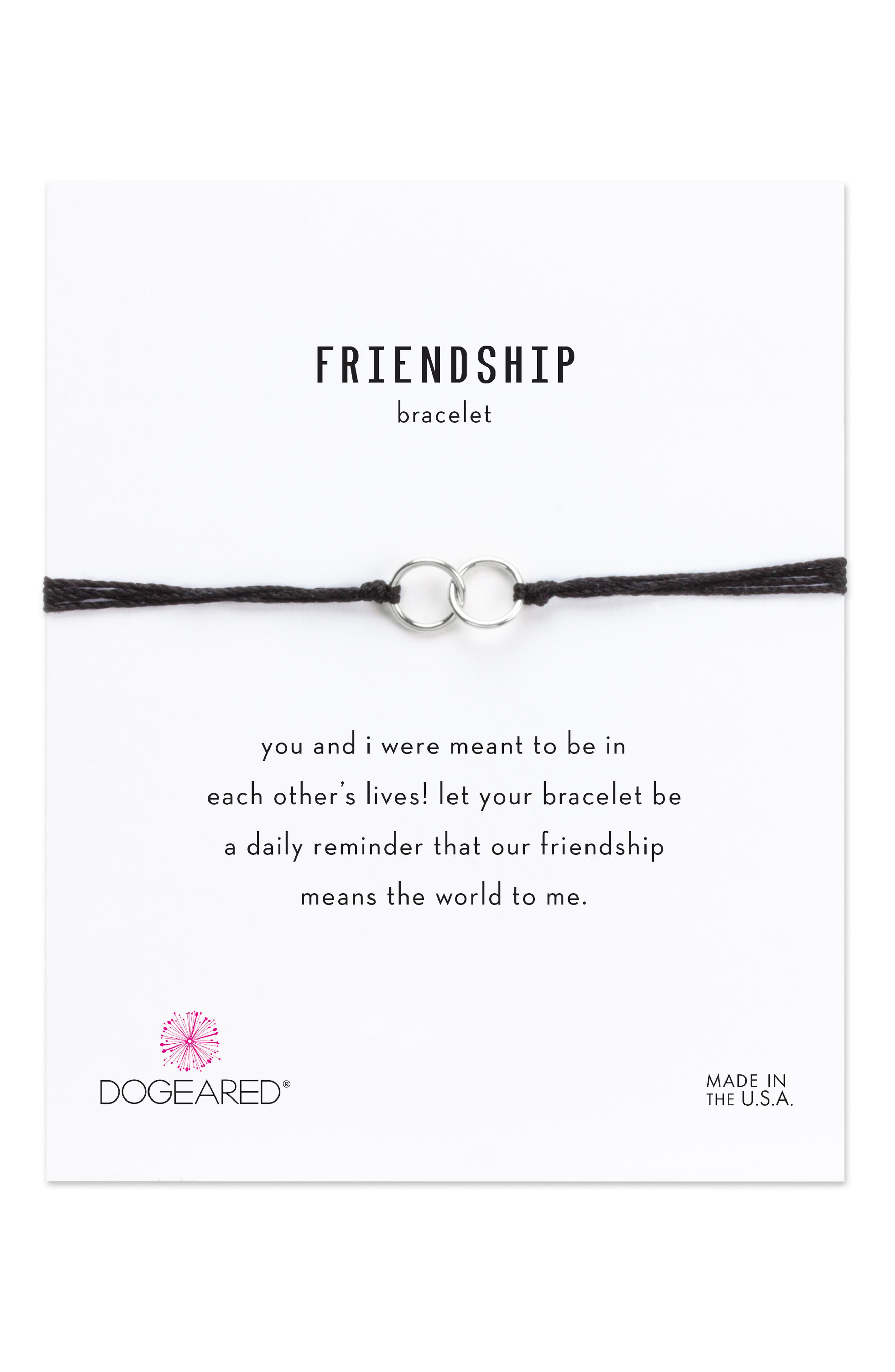 DOGEARED,                             Double Linked Friendship Bracelet,                             Alternate thumbnail 3, color,                             040