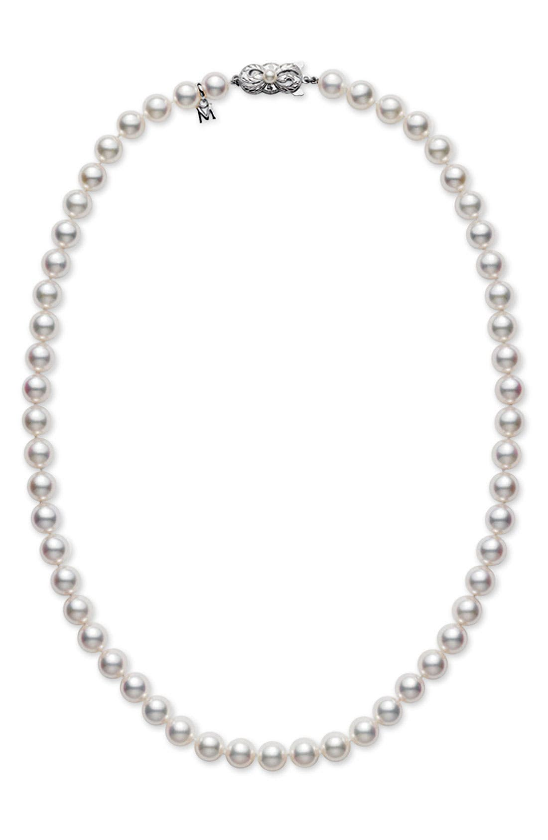 Pearl Necklace,                         Main,                         color, AKOYA PEARL