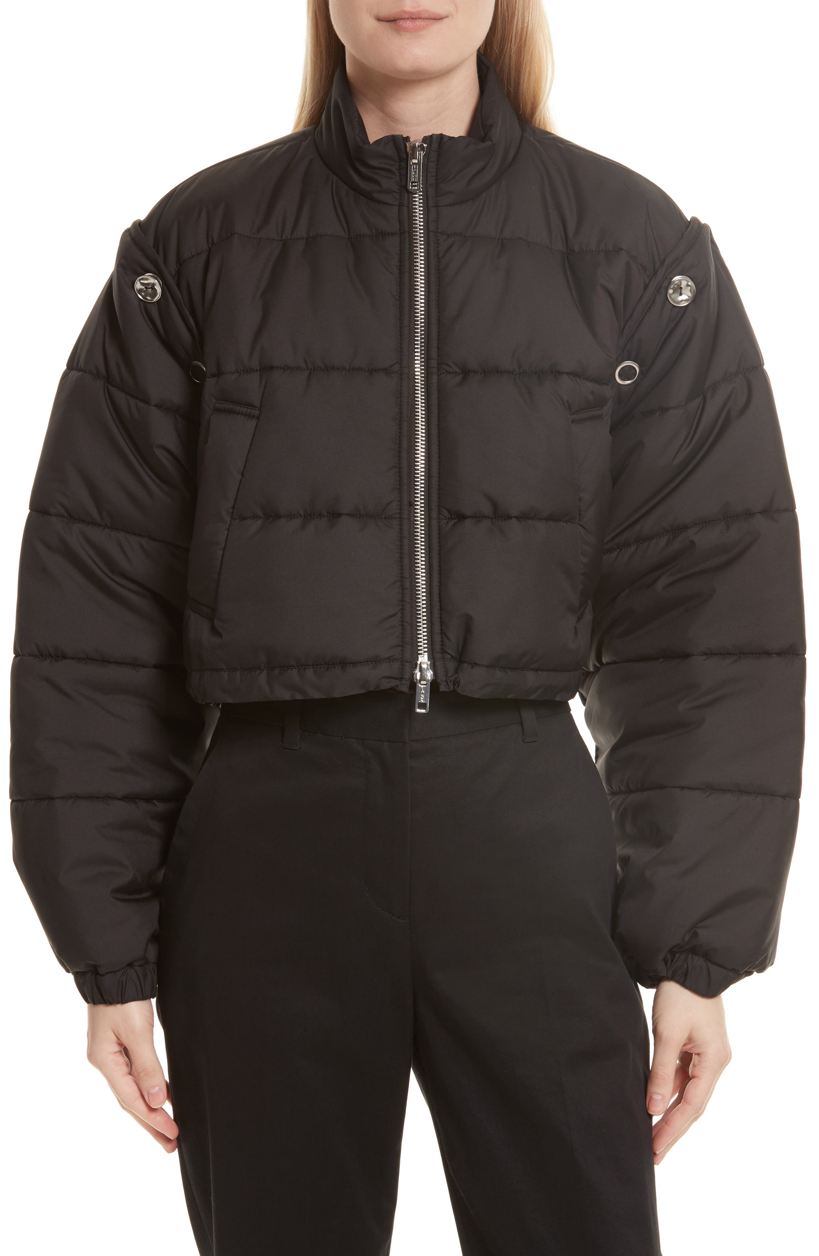 Quilted Bomber,                             Main thumbnail 1, color,                             001