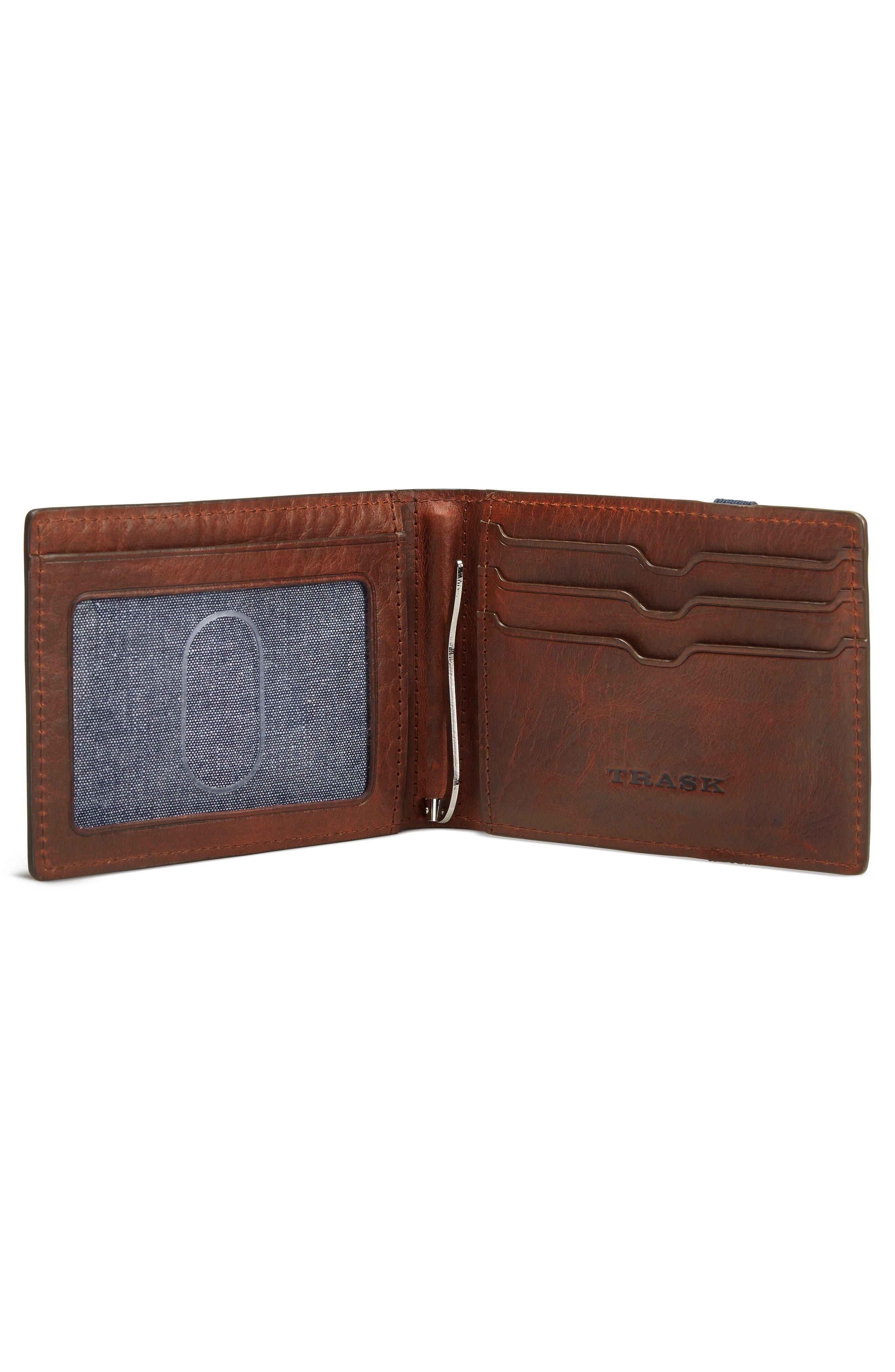Leather Money Clip Wallet,                             Alternate thumbnail 2, color,                             211
