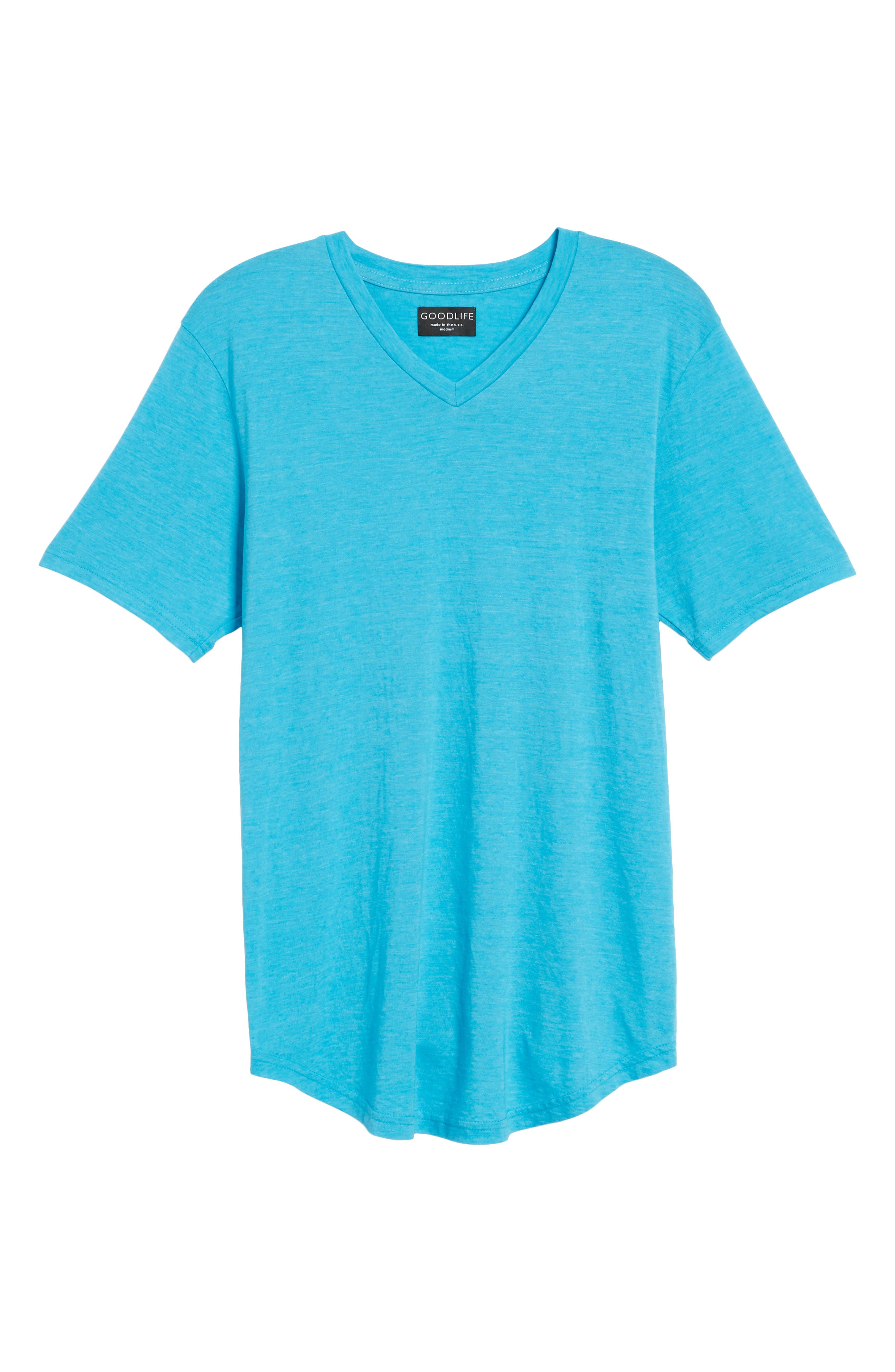 Scallop Triblend V-Neck T-Shirt,                             Alternate thumbnail 124, color,