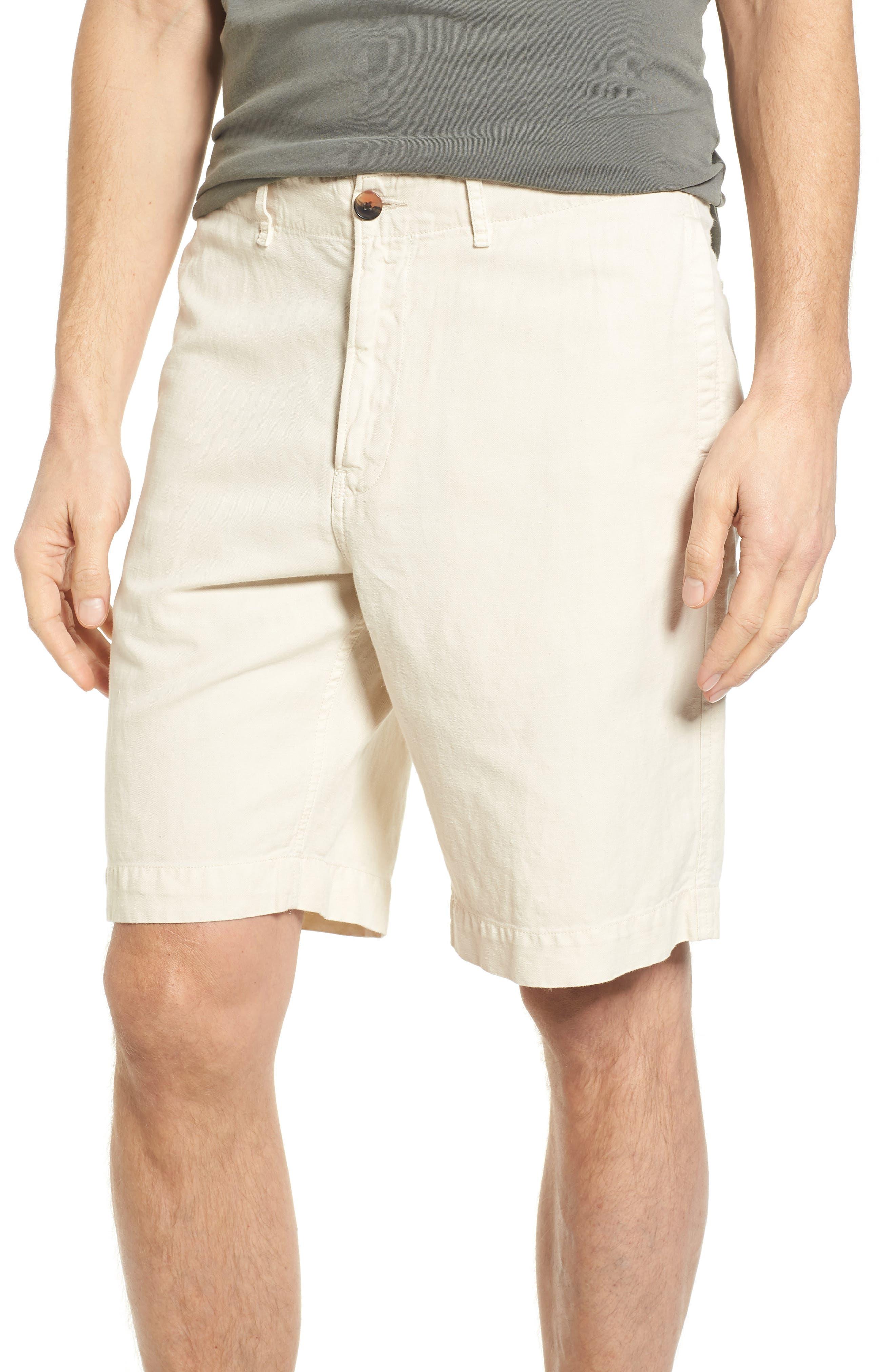 Clyde Cotton & Linen Shorts,                             Main thumbnail 1, color,                             EGGSHELL