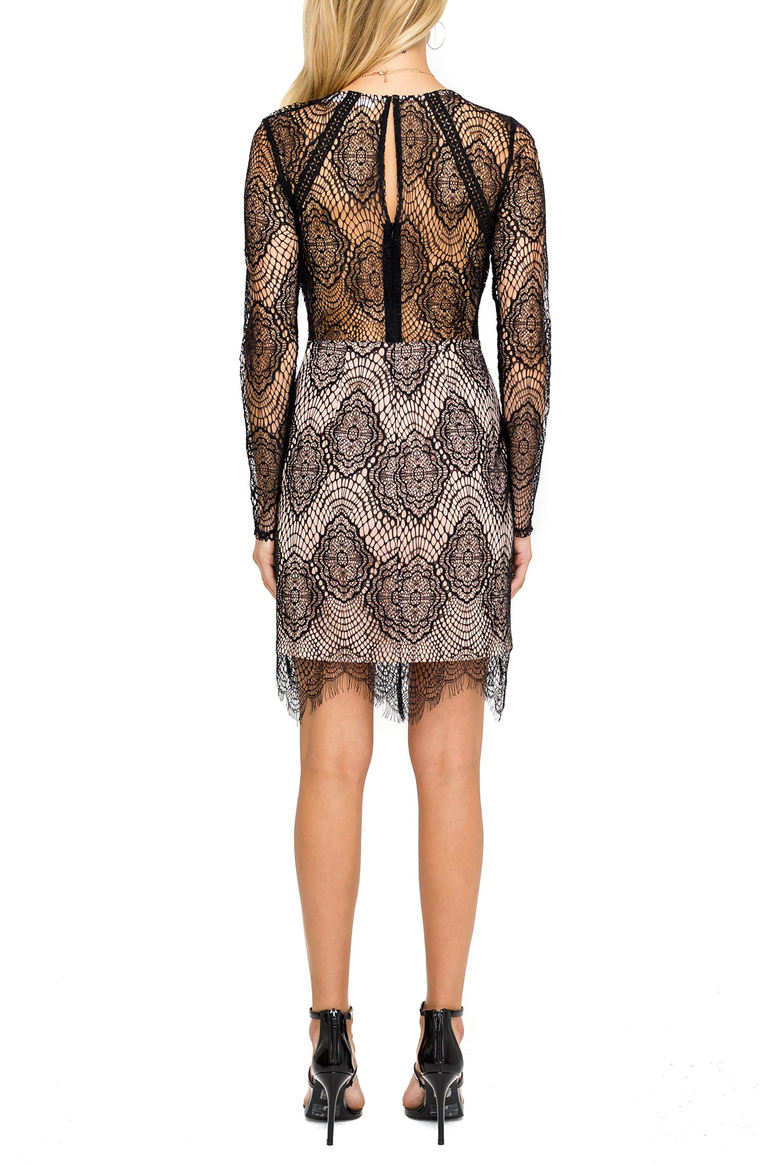 Astr The Label Lace Body-Con Dress, Black