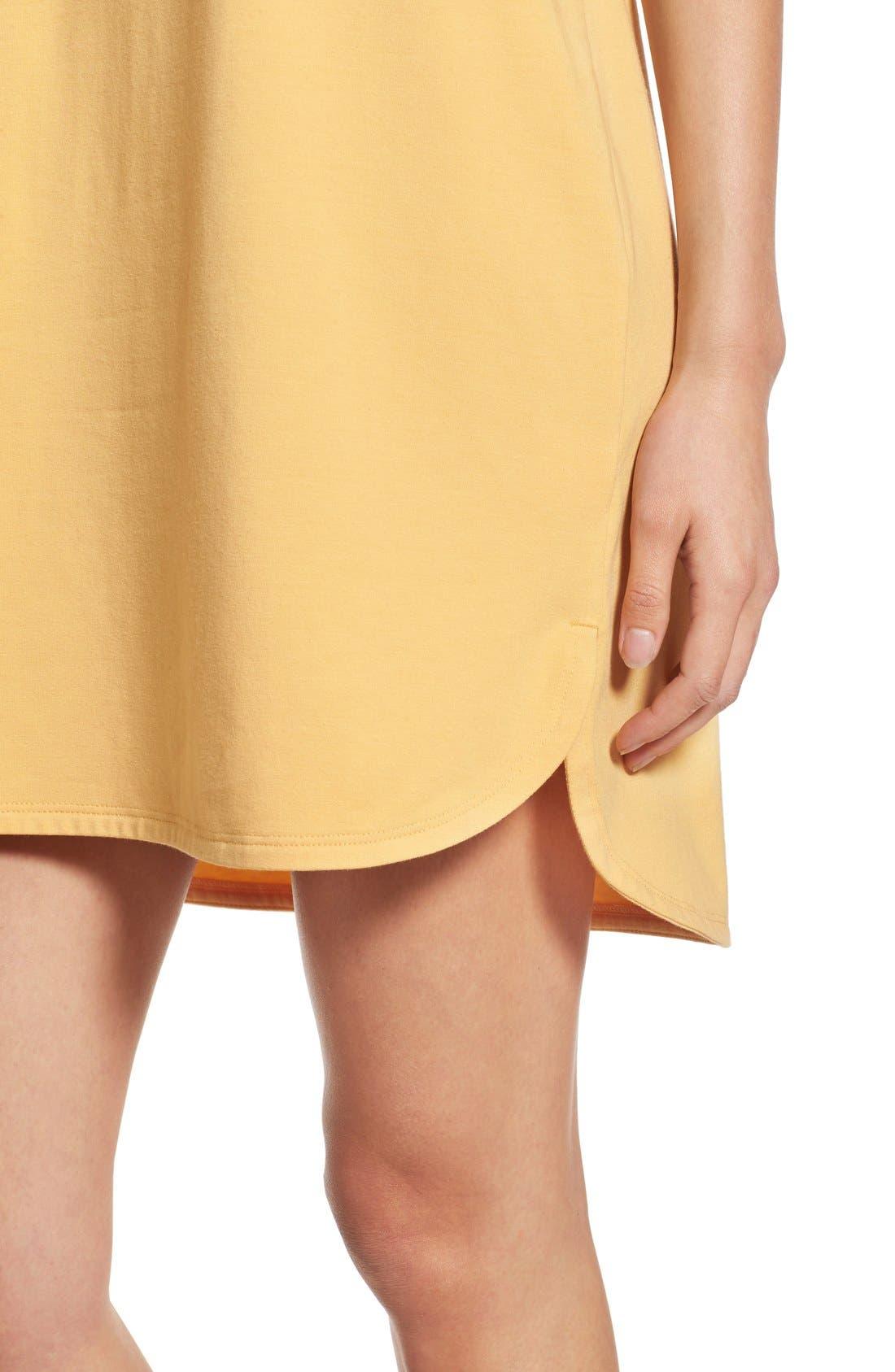Stretch Cotton Shift Dress,                             Alternate thumbnail 28, color,