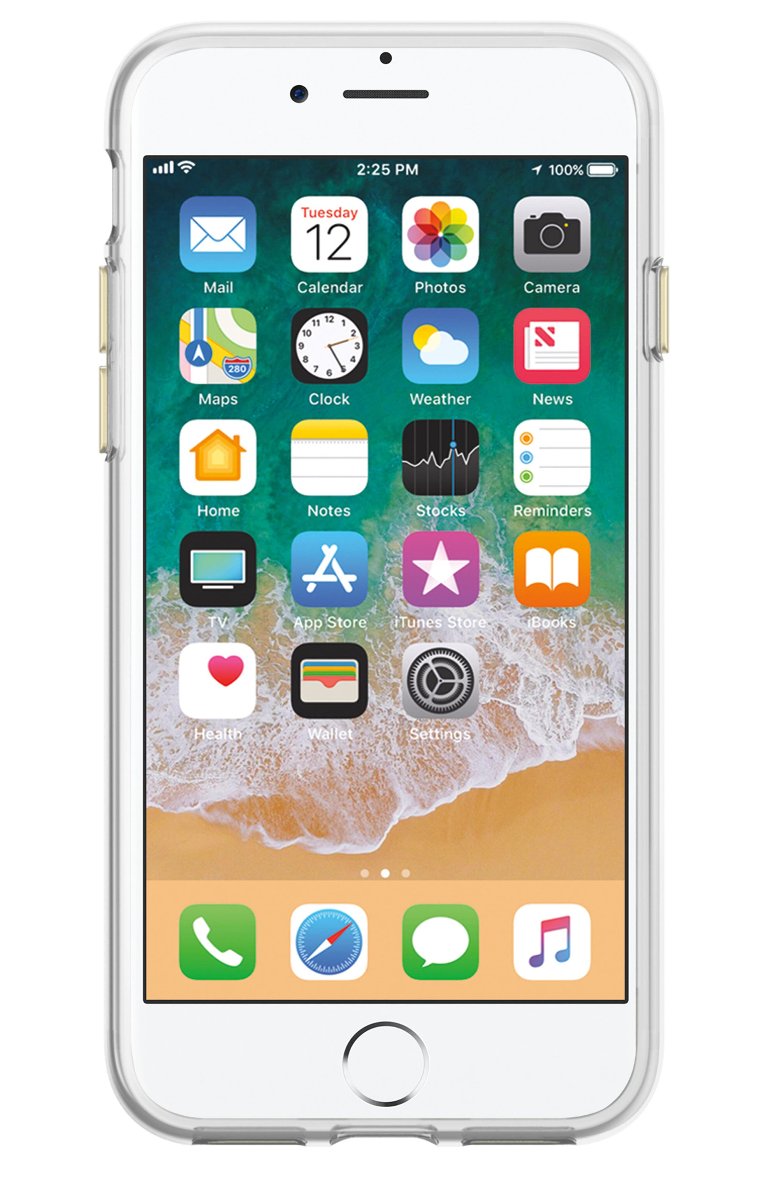 Hey Mama iPhone 7/8 & 7/8 Plus Case,                             Alternate thumbnail 3, color,                             BLACK/ GOLD GLITTER