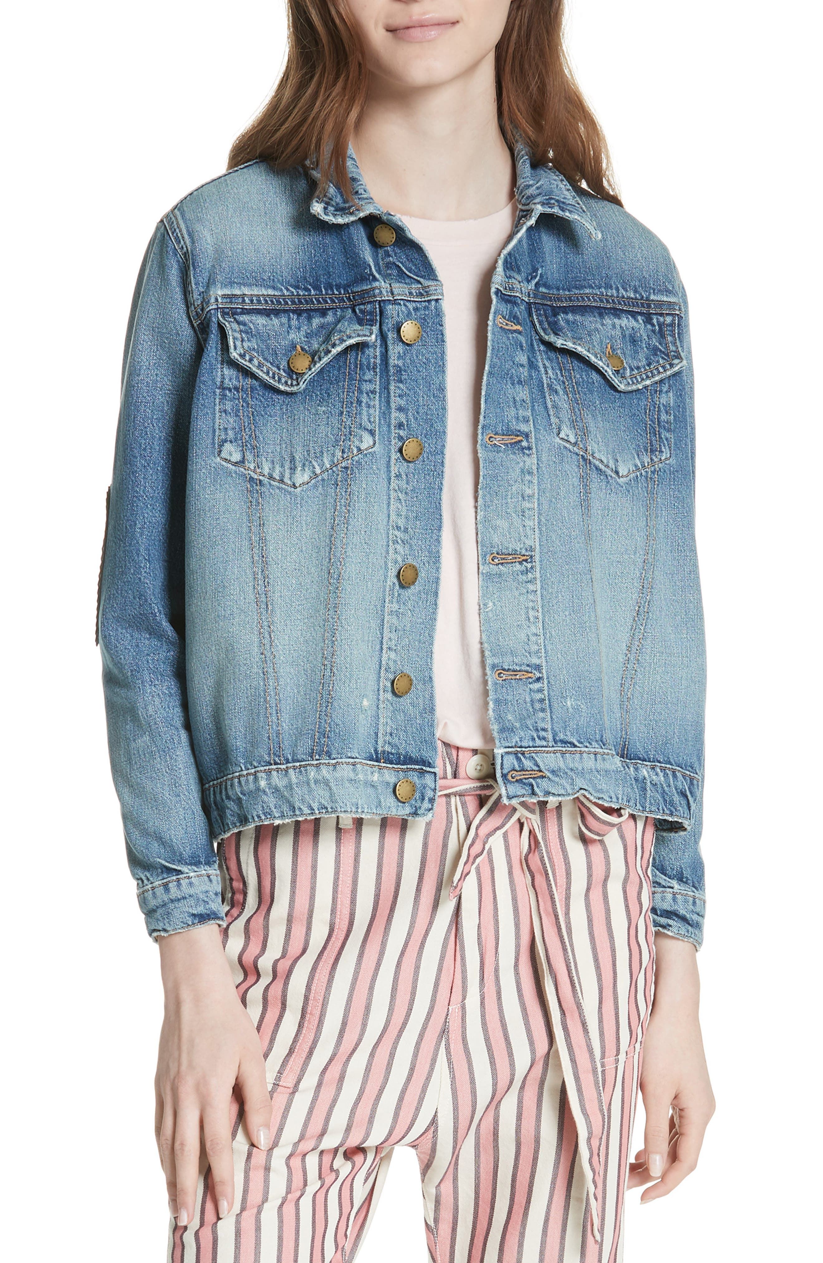 The Boxy Jean Jacket,                             Alternate thumbnail 7, color,                             435