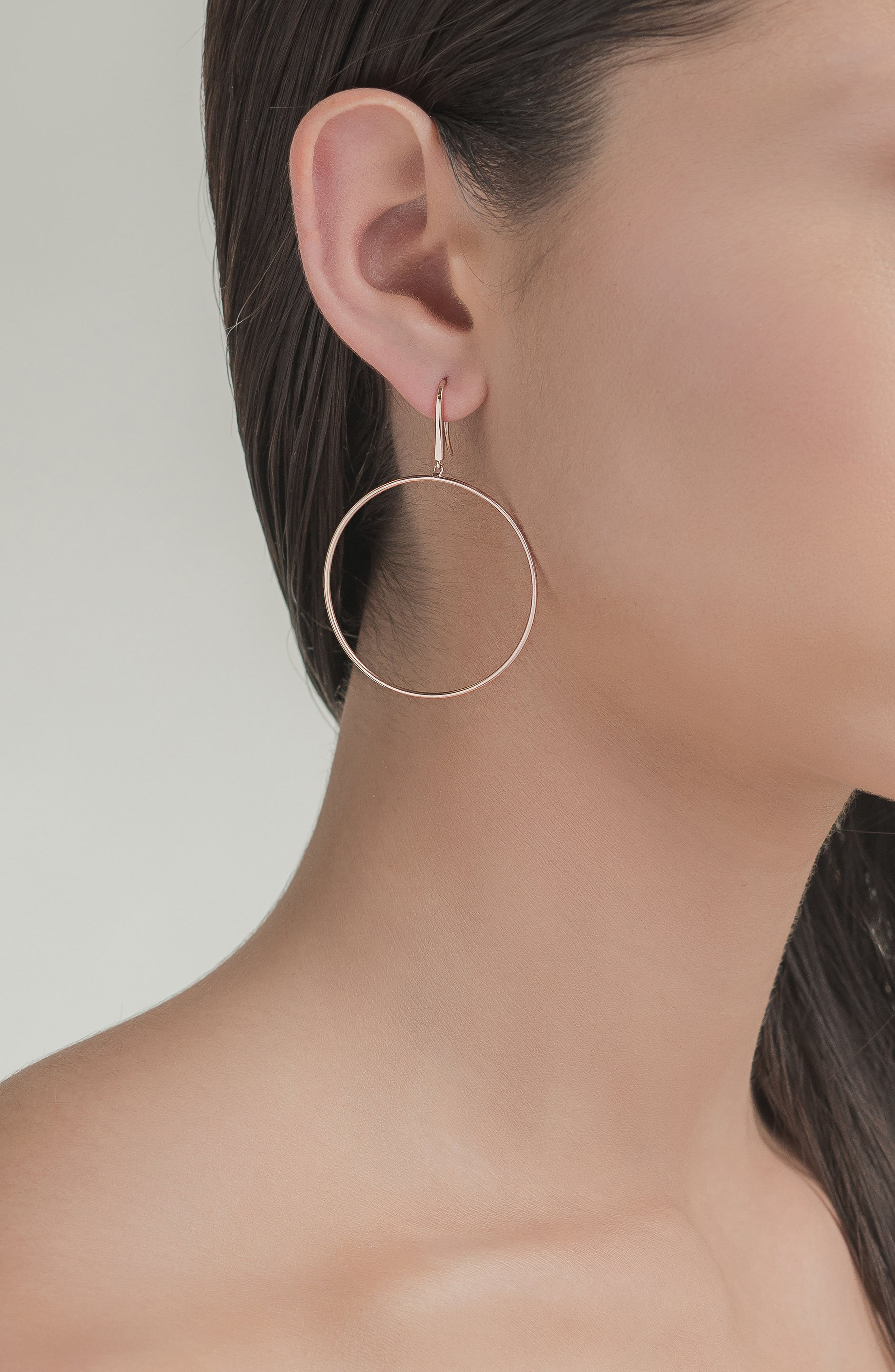 Wire Bangle Hoop Earrings,                             Alternate thumbnail 2, color,                             YELLOW GOLD