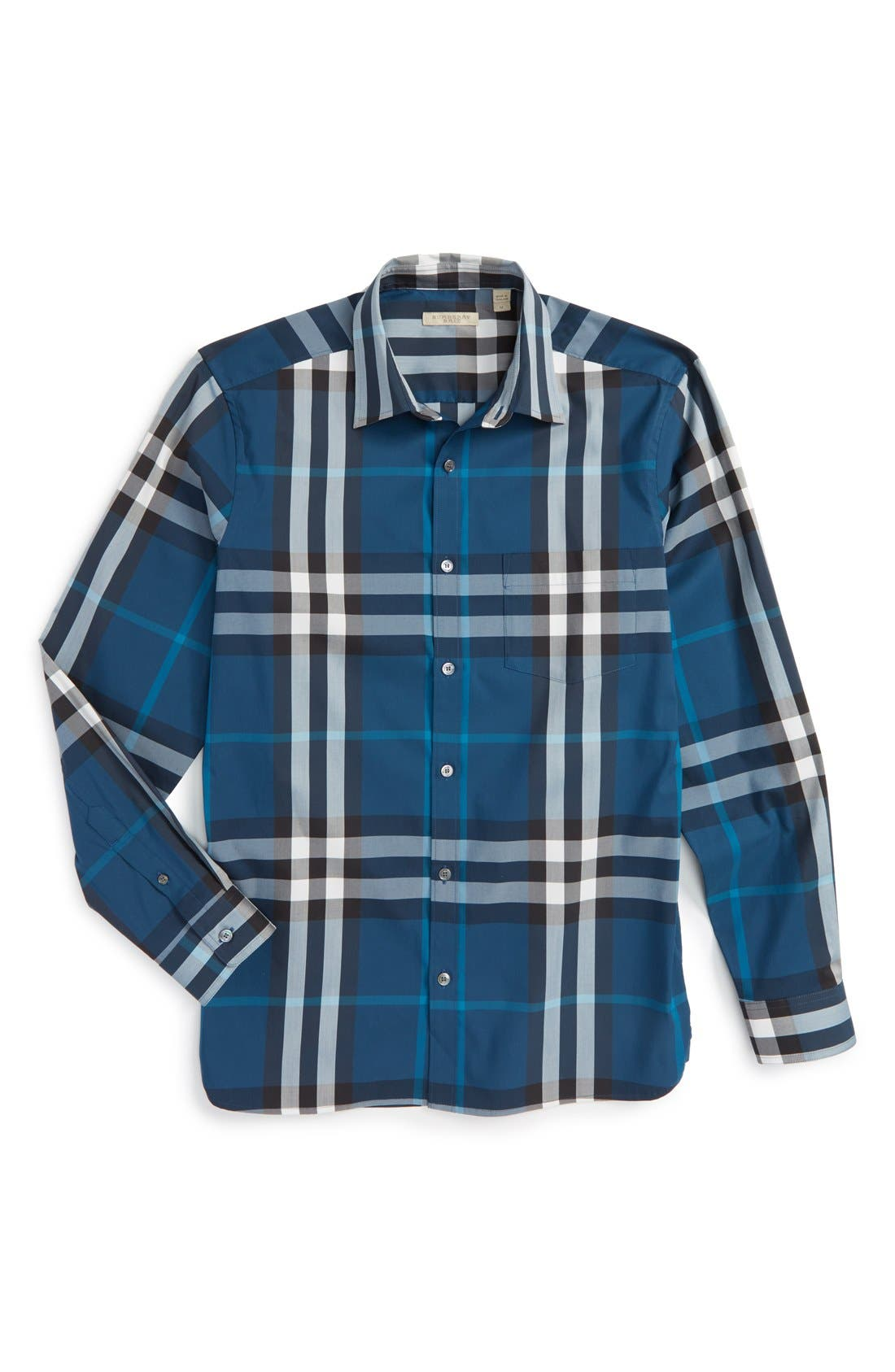 Nelson Check Sport Shirt,                             Alternate thumbnail 123, color,