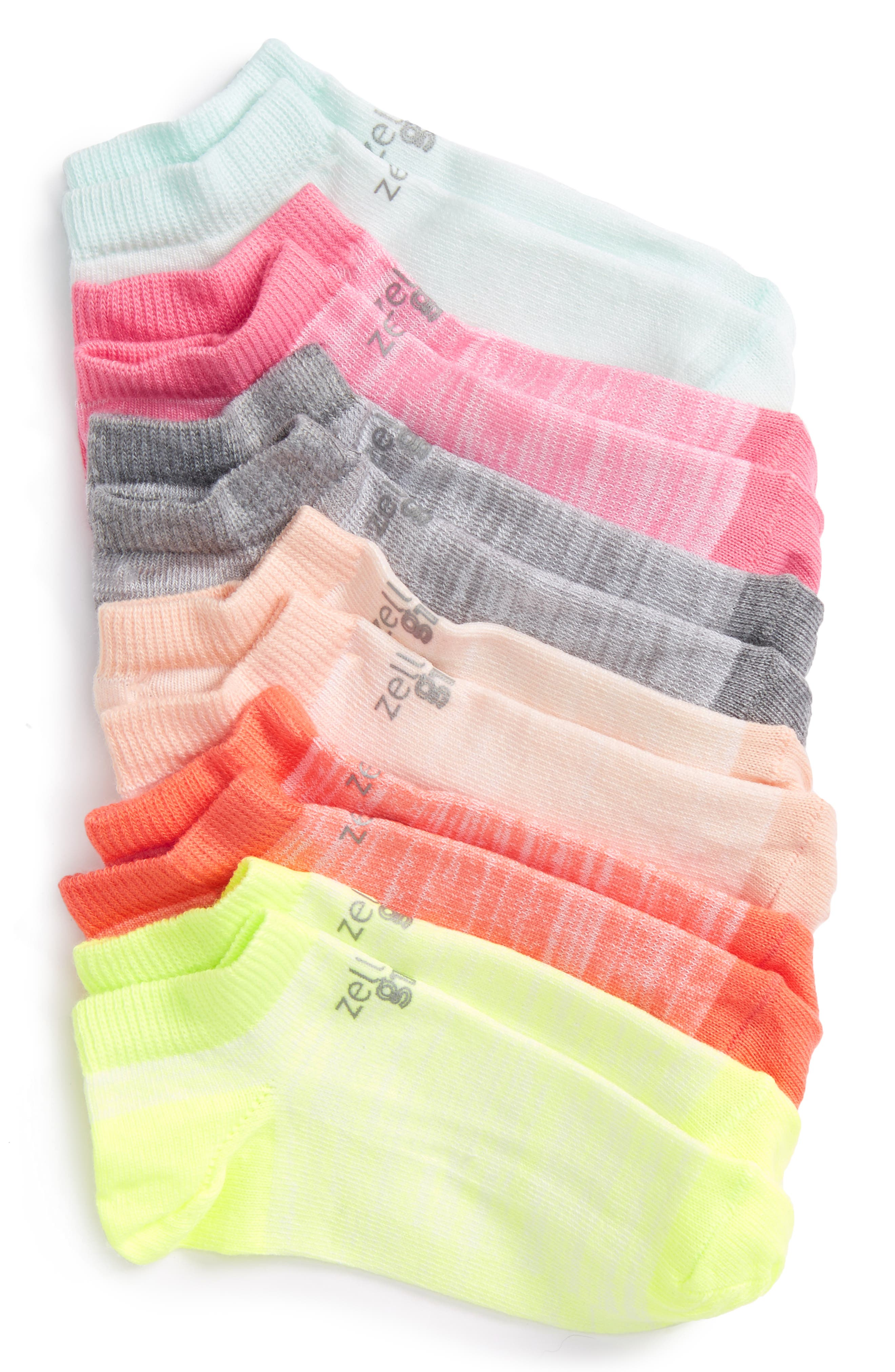 6-Pack Ankle Socks,                             Main thumbnail 12, color,