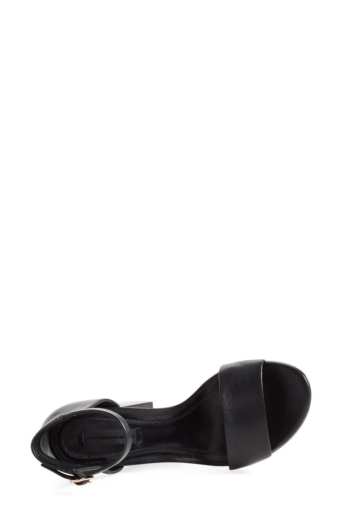 'Abby' Ankle Strap Sandal,                             Alternate thumbnail 7, color,                             BLACK