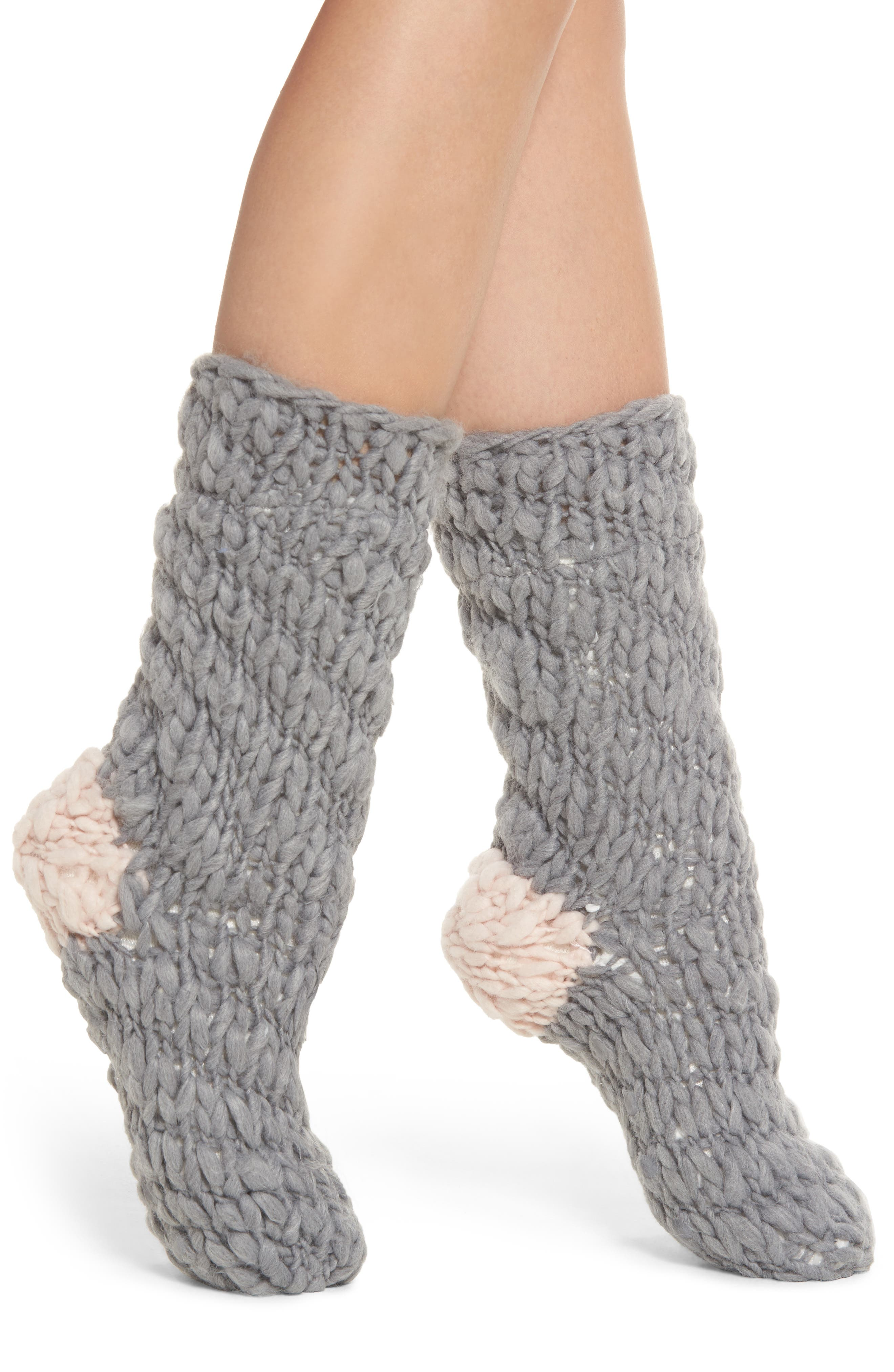 Winter Tale Bootie Slipper Socks, Main, color, 020